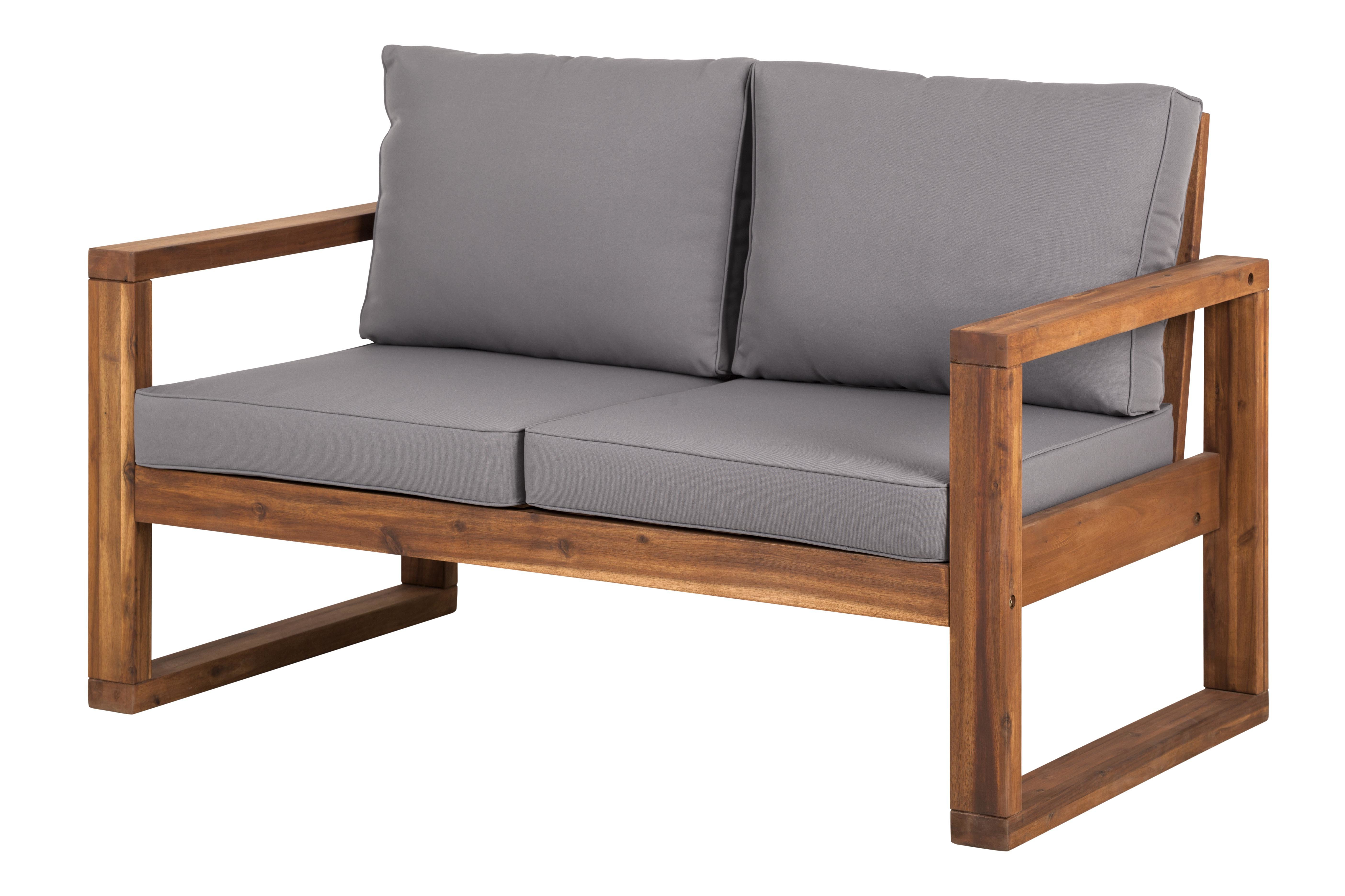 Fashionable Montford Teak Loveseats With Cushions With Regard To Lyall Loveseat With Cushion (View 3 of 20)