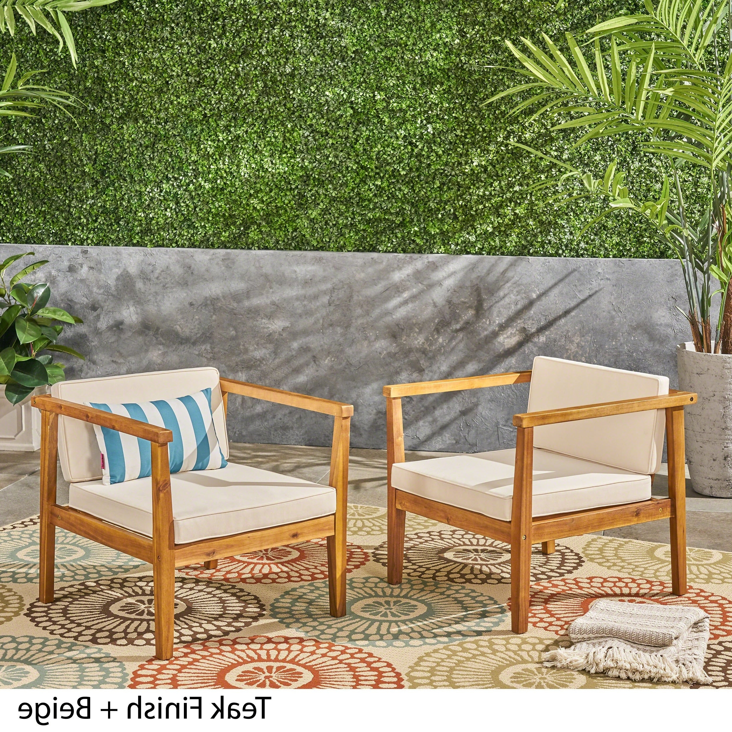 Fashionable Newbury Outdoor Acacia Wood Club Chairs With Cushions (Set Of 2) Christopher Knight Home Pertaining To Newbury Patio Sofas With Cushions (View 5 of 20)