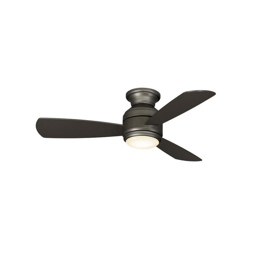 Fashionable Ronan 3 Blade Ceiling Fans Regarding Fanimation Studio Collection Level 44 In Matte Greige Led (View 15 of 20)