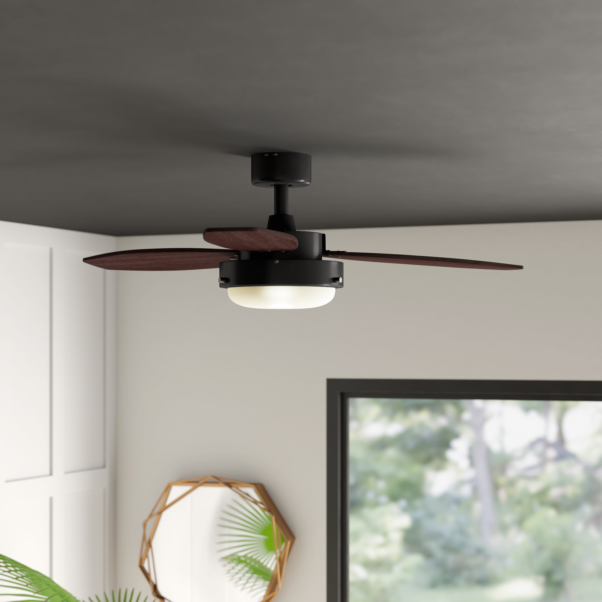 """Fashionable Troxler 3 Blade Ceiling Fans Within 42"""" Corsa 3 Blade Ceiling Fan, Light Kit Included (View 17 of 20)"""