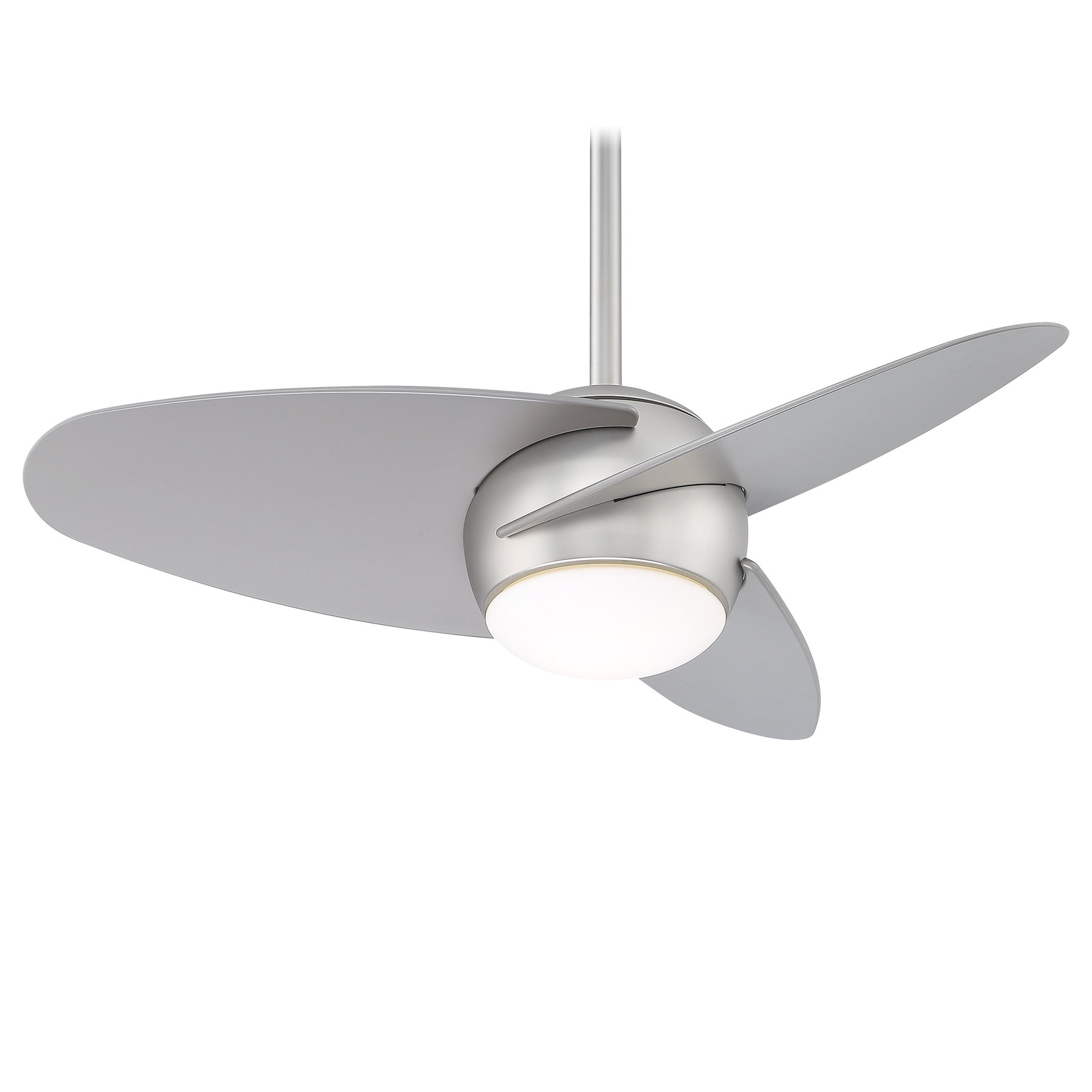 "Fashionable Wisp 3 Blade Led Ceiling Fans With Regard To 36"" Slant 3 Blade Led Ceiling Fan (View 6 of 20)"