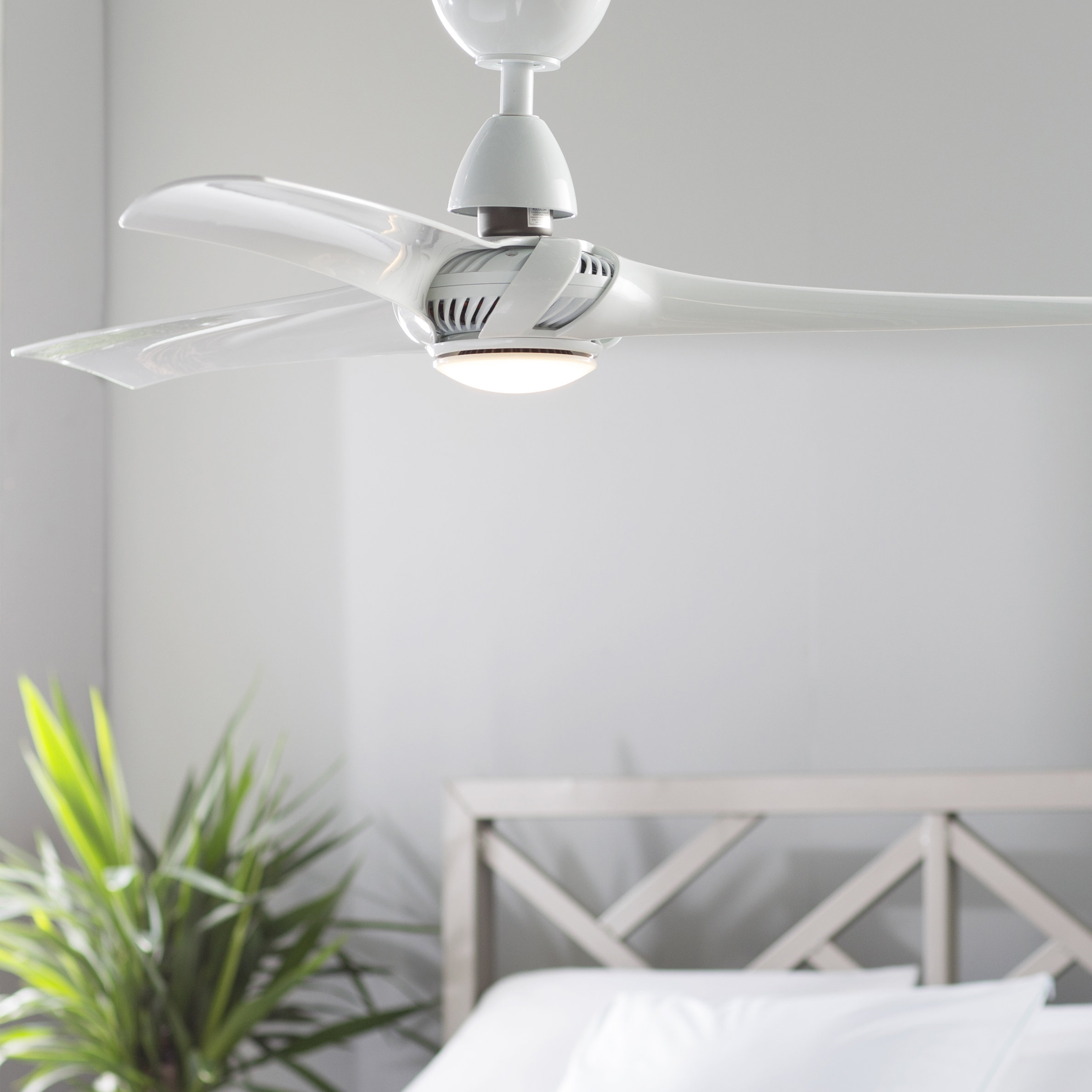 Favorite 52'' Cairo 3 Blade Led Ceiling Fan With Remote, Light Kit Included Regarding Paige 3 Blade Led Ceiling Fans (View 7 of 20)