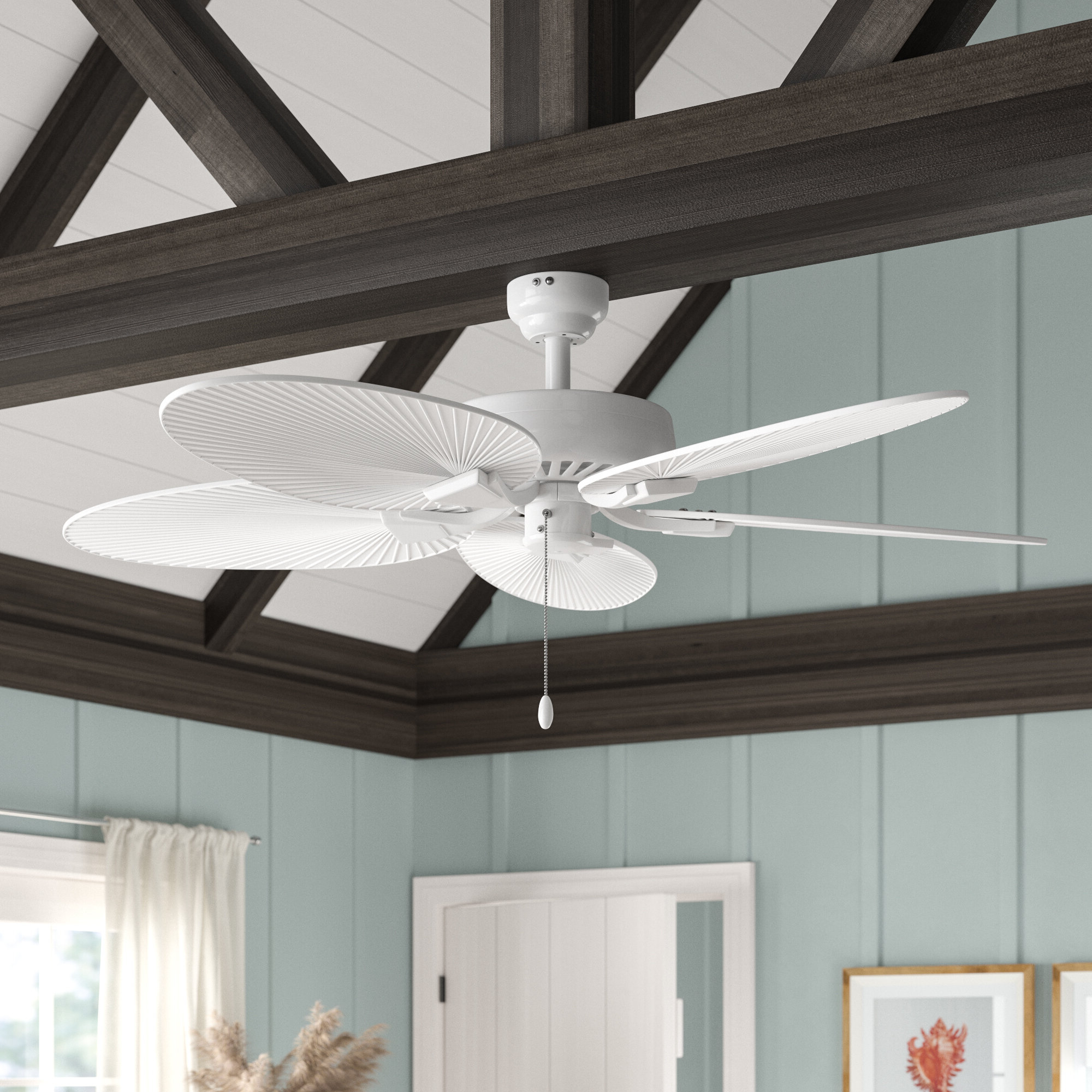 "Favorite 52"" Pavel 5 Blade Indoor Ceiling Fan With Remote Intended For Ravenna 5 Blade Ceiling Fans (View 13 of 20)"