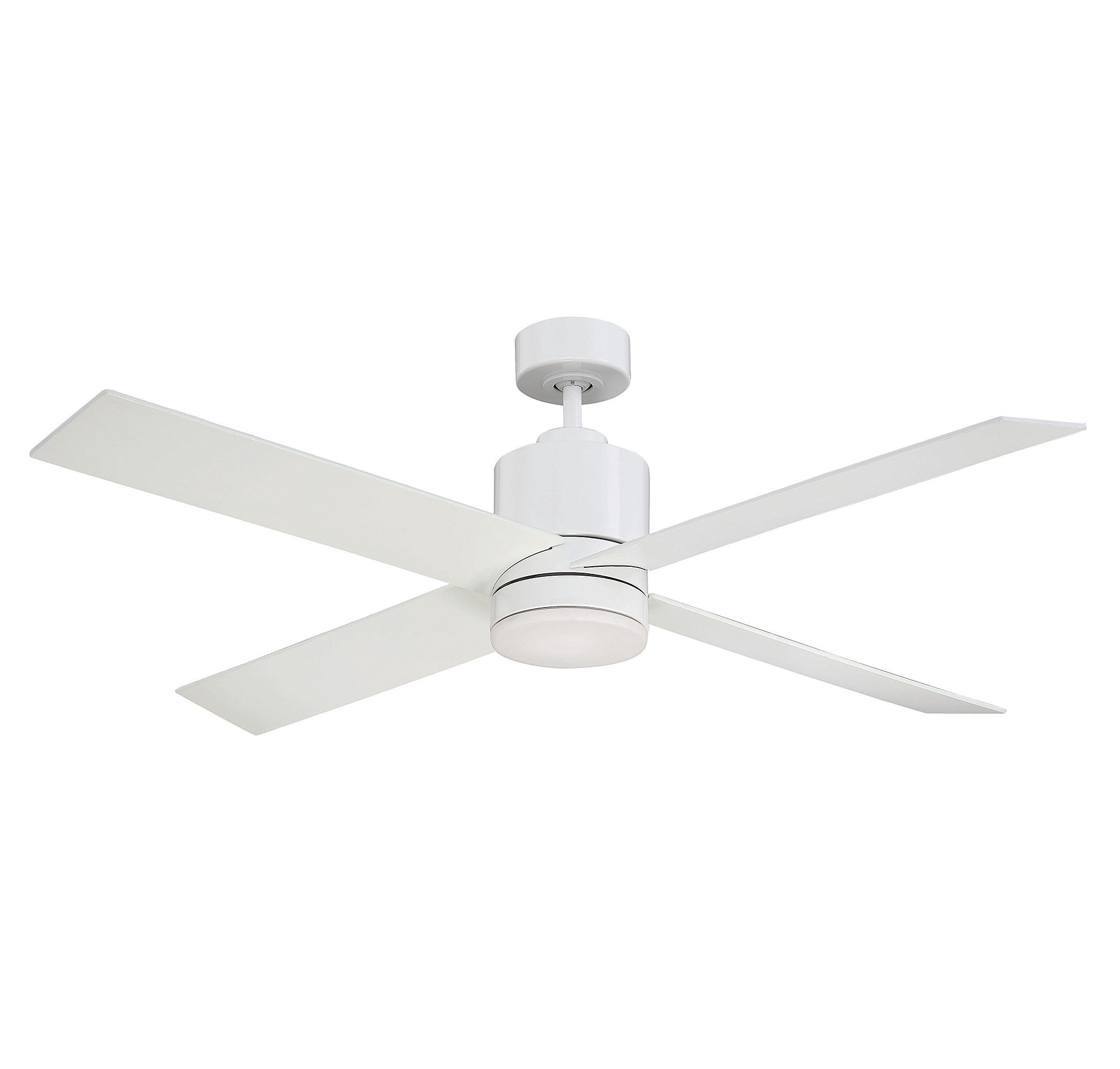 "Favorite 52"" Rinke 4 Blade Ceiling Fan With Remote, Light Kit Included Throughout Aker 3 Blade Led Ceiling Fans (View 13 of 20)"