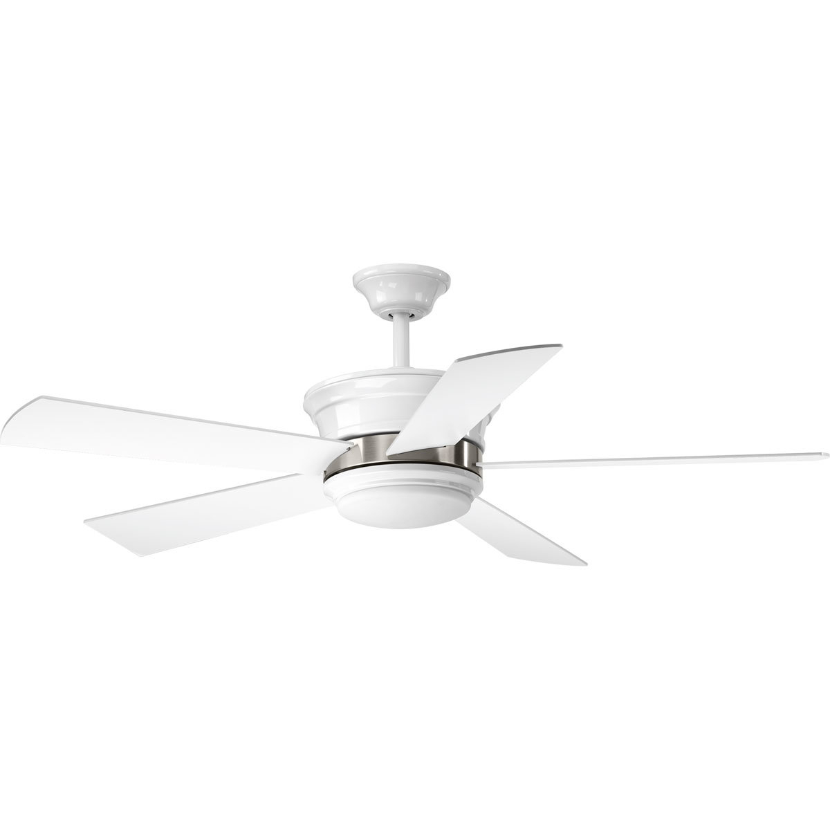 """Favorite 54"""" Seaton 5 Blade Led Ceiling Fan With Remote, Light Kit Included Regarding Creslow 5 Blade Ceiling Fans (View 14 of 20)"""
