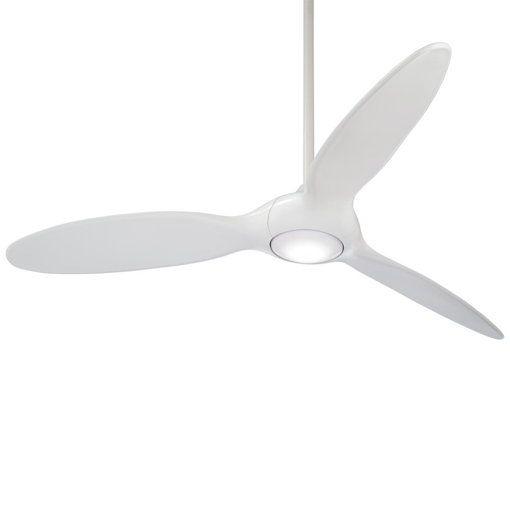 "Favorite 60"" Force 3 Blade Led Ceiling Fan With Remote, Light Kit Included With Regard To Wave 3 Blade Led Ceiling Fans With Remote (View 11 of 20)"