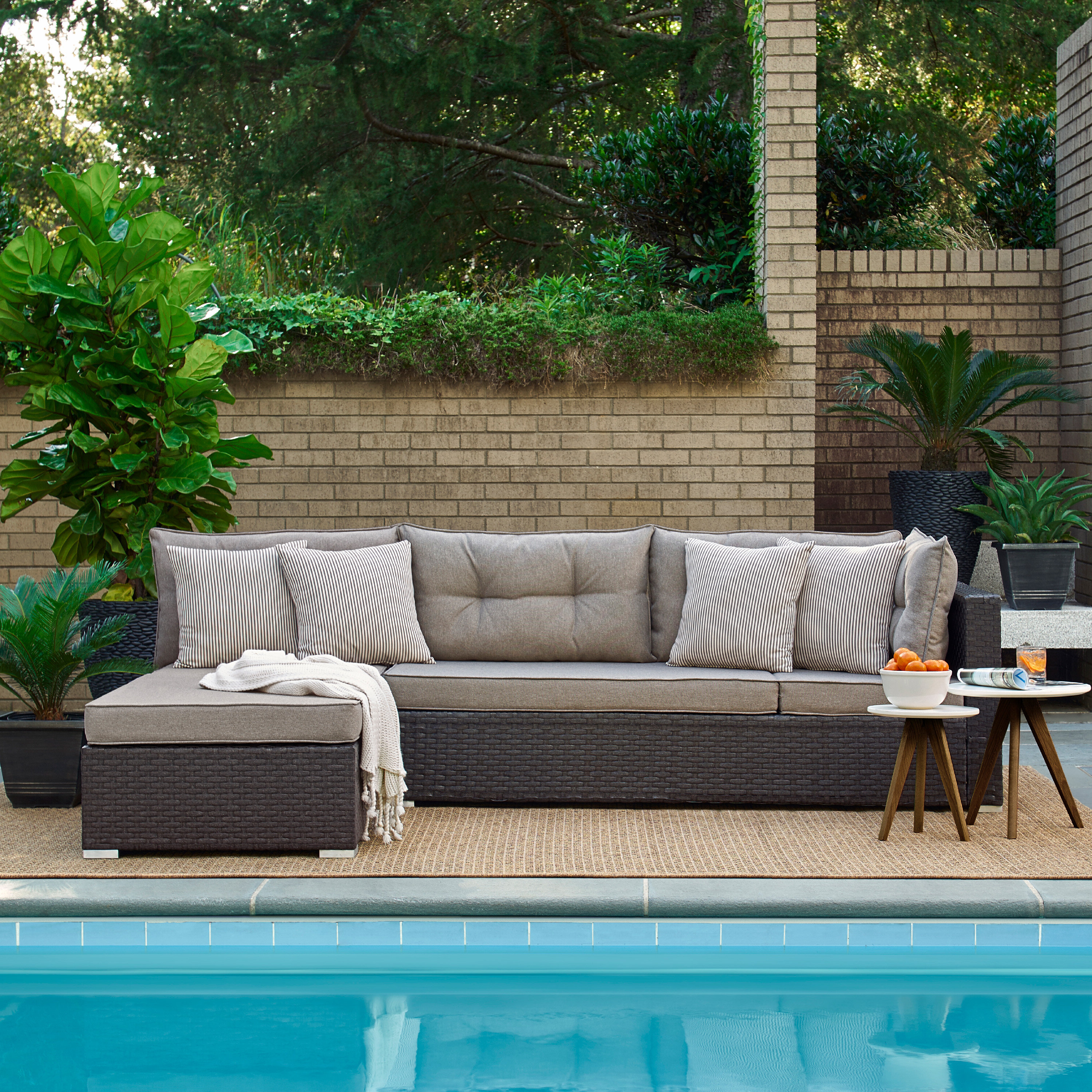 Favorite Ayden Patio Sectional With Cushions Intended For Rowley Patio Sofas Set With Cushions (View 10 of 20)