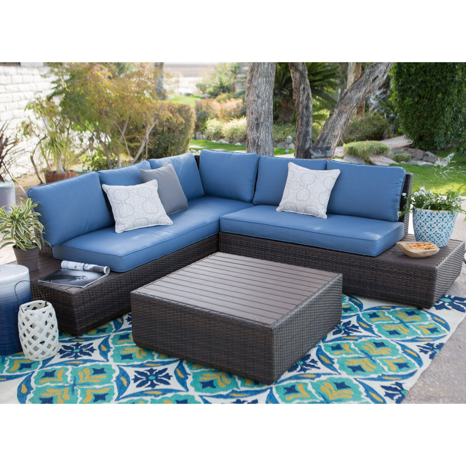 Favorite Belham Living Luciana Bay All Weather Wicker Loveseats With Cushions Regarding Wicker Loveseats (View 4 of 20)