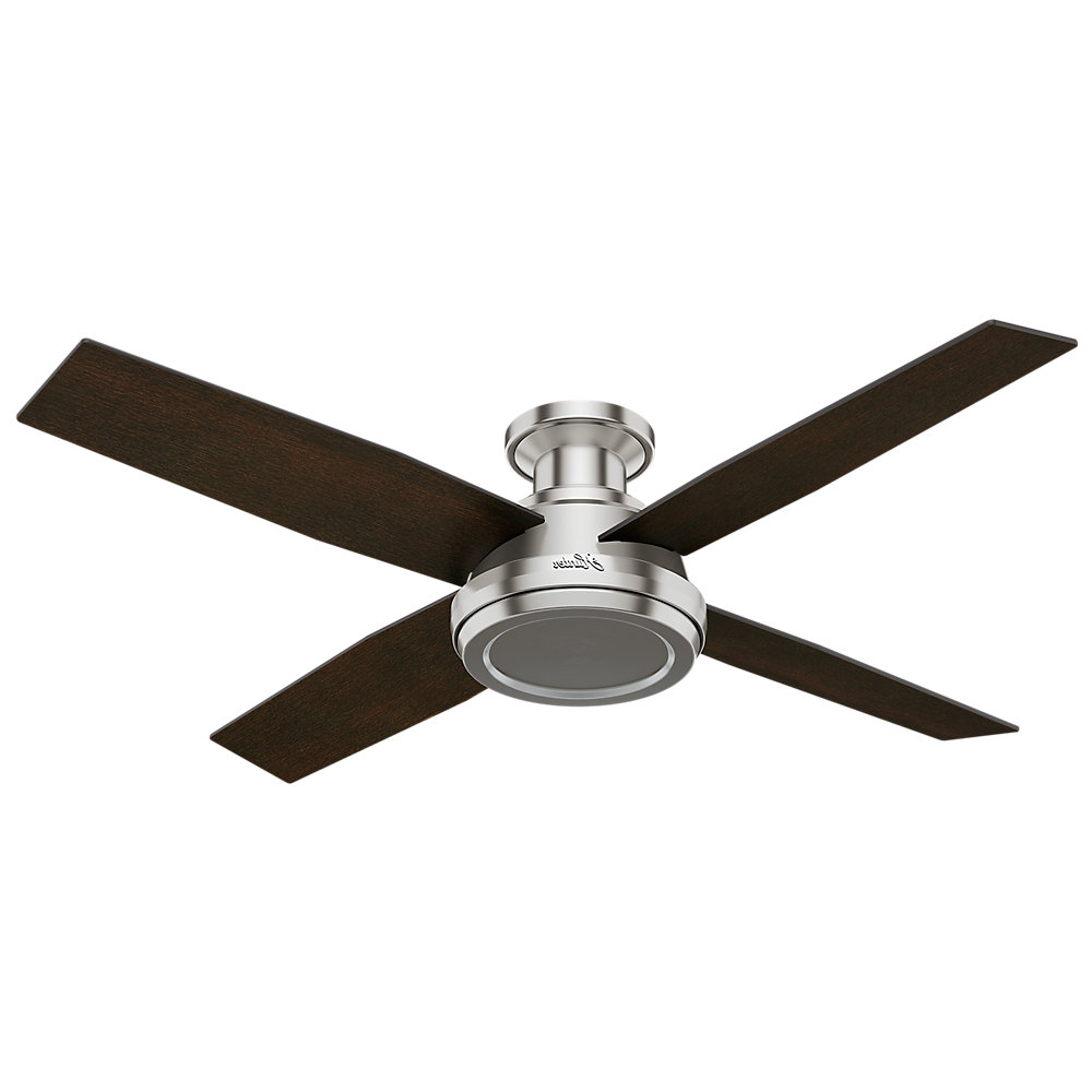 "Favorite Dempsey 4 Blade Ceiling Fans Intended For 52"" Dempsey 4 Blade Ceiling Fan (View 9 of 20)"