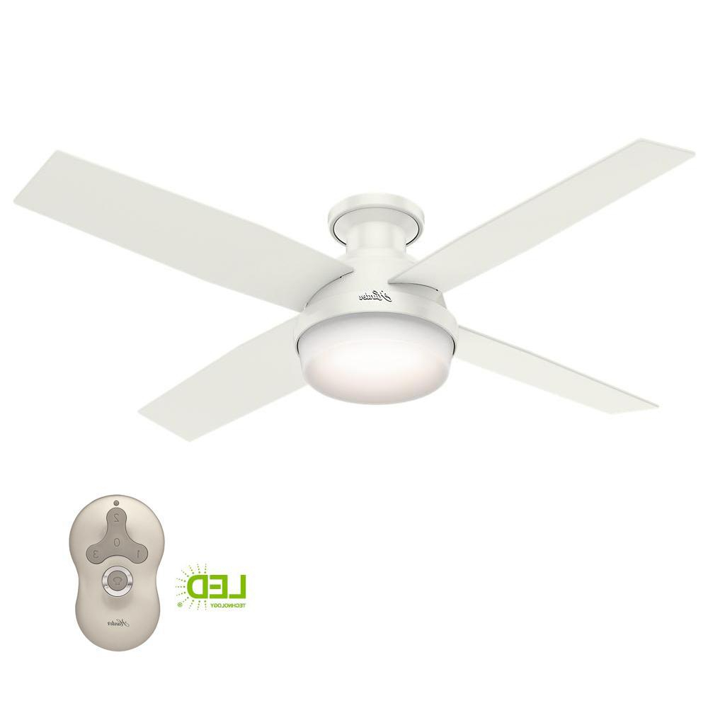 Favorite Dempsey 4 Blade Ceiling Fans With Hunter Dempsey 52 In (View 10 of 20)