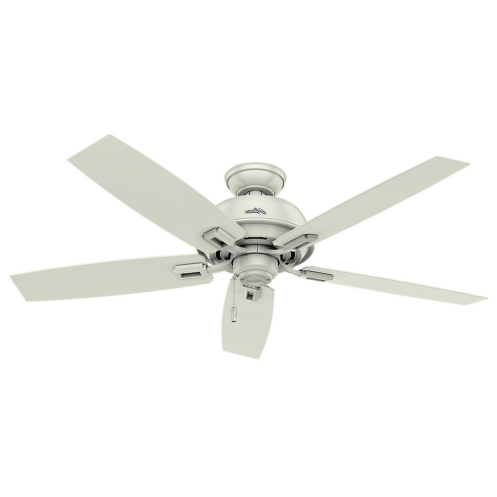 "Favorite Details About Hunter Donegan 52 Damp 52"" Indoor / Outdoor Ceiling Fan – 5  Reversible Blades In Donegan 5 Blade Ceiling Fans (View 12 of 20)"