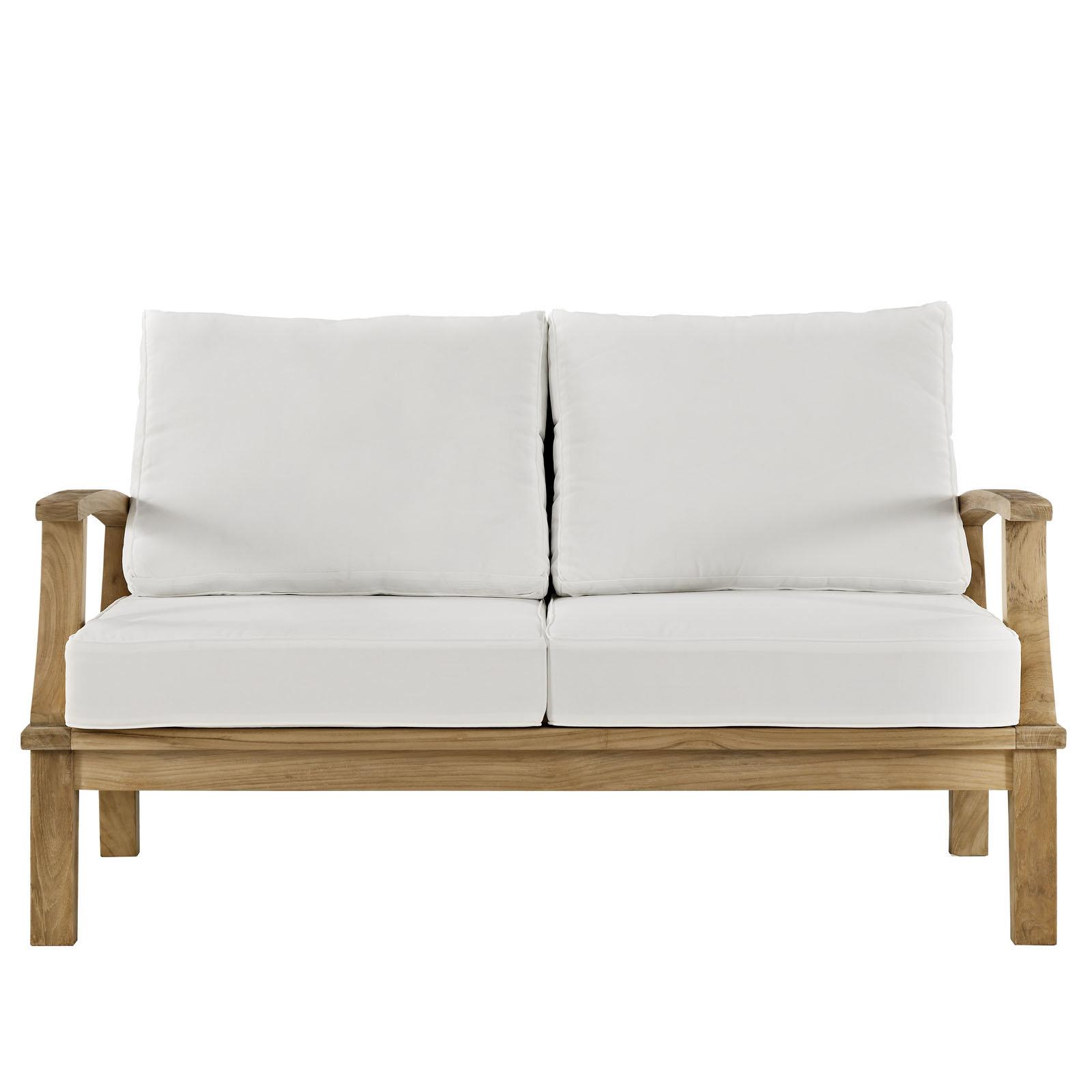 Favorite Elaina Teak Loveseats With Cushions Within Elaina Teak Loveseat With Cushions (View 11 of 20)