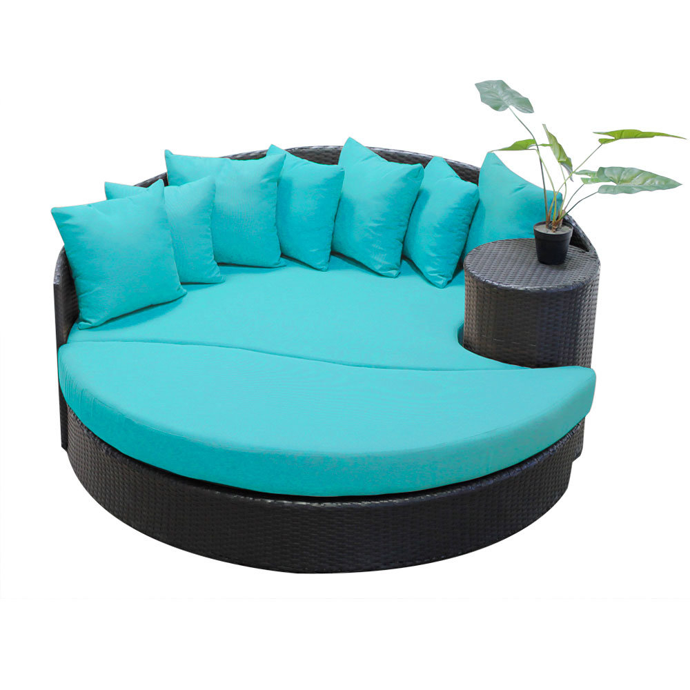 Favorite Freeport Patio Daybed With Cushion Inside Leiston Round Patio Daybeds With Cushions (View 6 of 20)