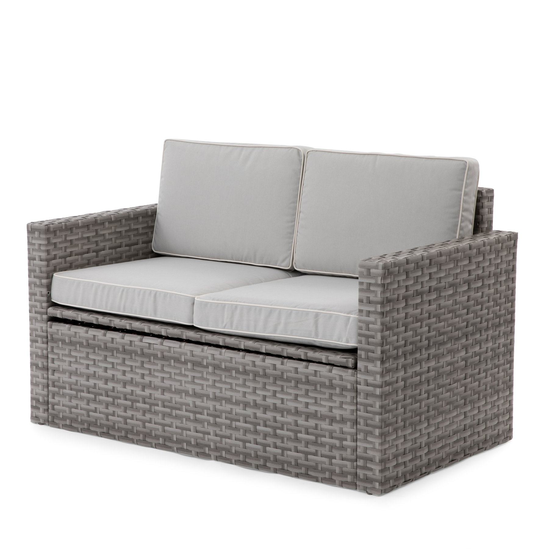 Favorite Freitag Loveseats With Cushions Throughout Coral Coast Berea Outdoor Wicker Storage Loveseat With (View 3 of 20)