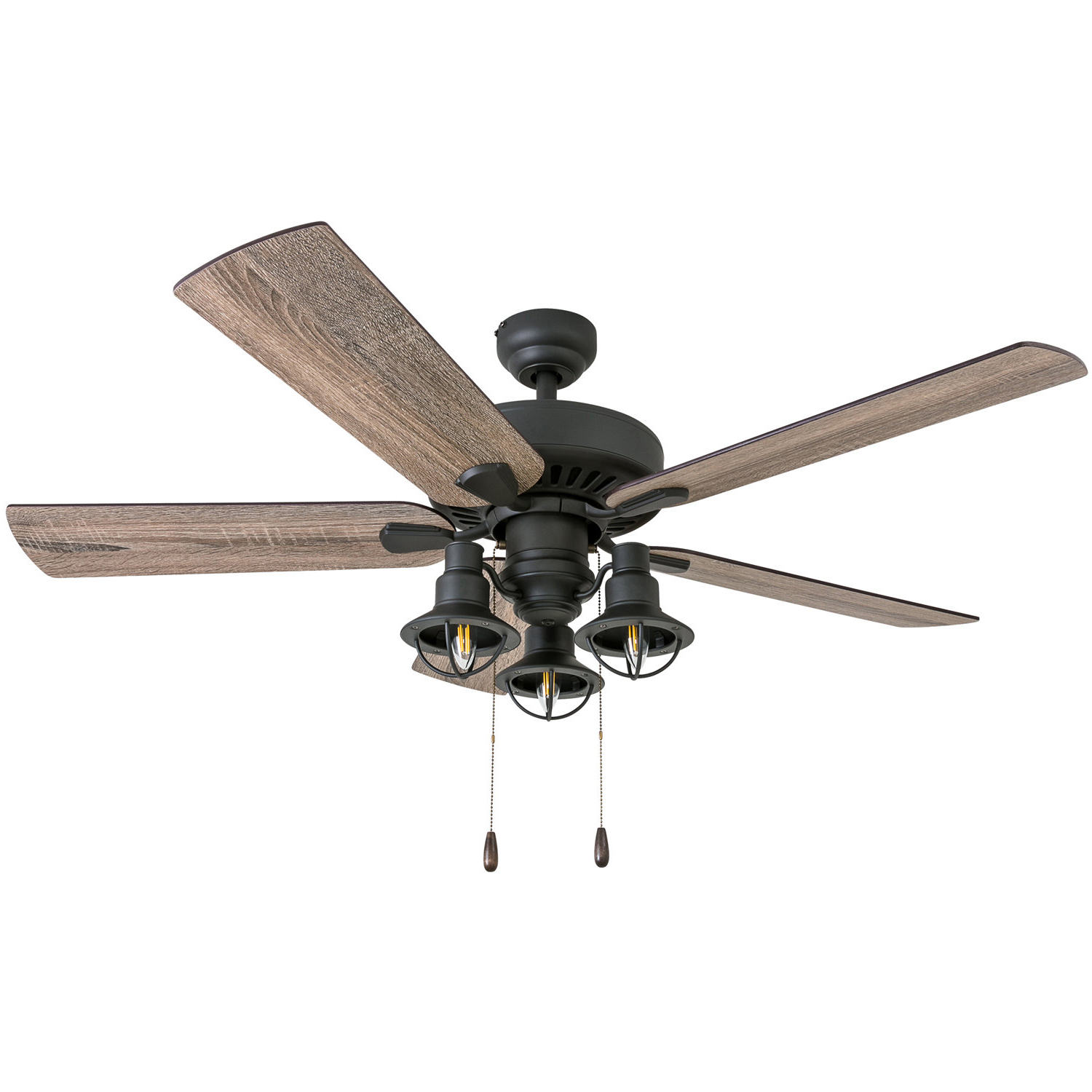 "Favorite Glenpool 5 Blade Ceiling Fans Pertaining To 52"" Ravello 5 Blade Led Ceiling Fan, Light Kit Included (View 10 of 20)"