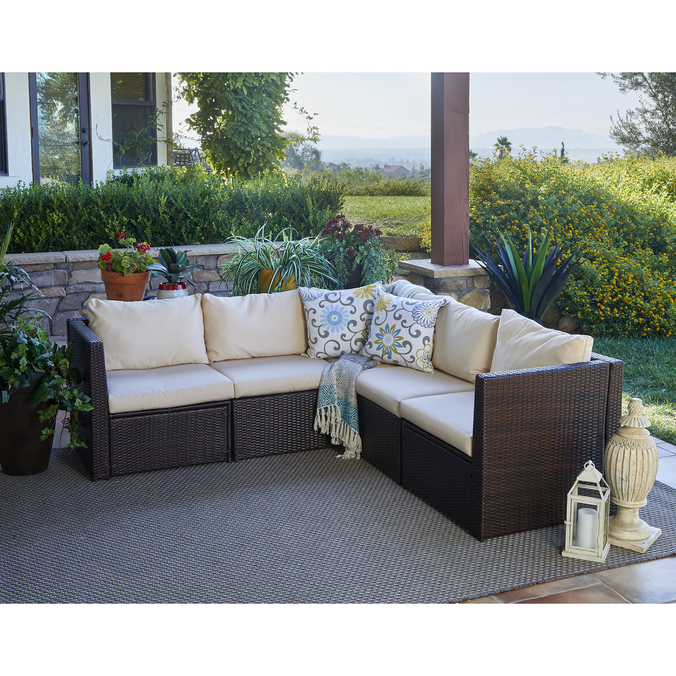 Favorite Larsen Patio Sectional With Cushions Throughout Purington Circular Patio Sectionals With Cushions (View 11 of 20)