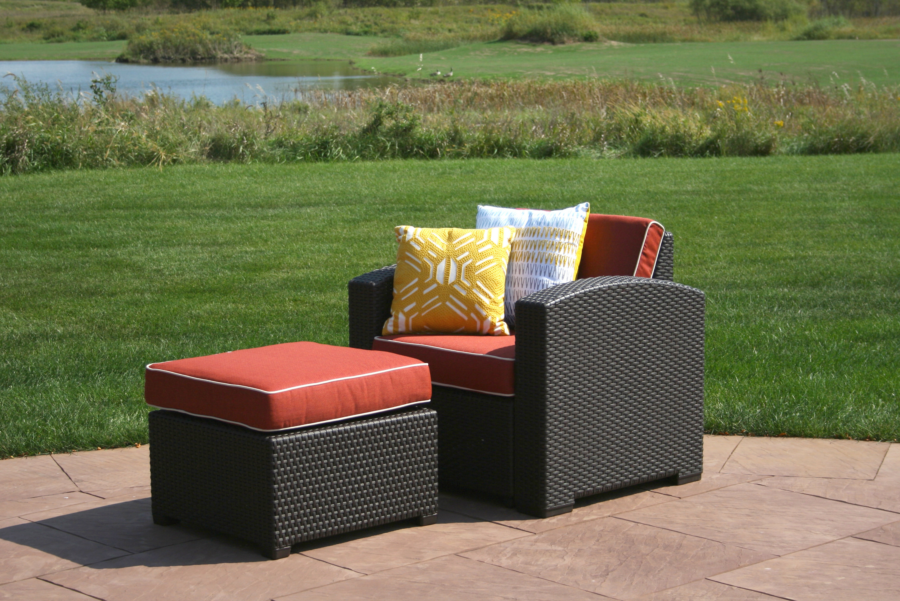 Favorite Loggins Patio Sofas With Cushions For Loggins Patio Chair With Cushion And Ottoman (View 15 of 20)
