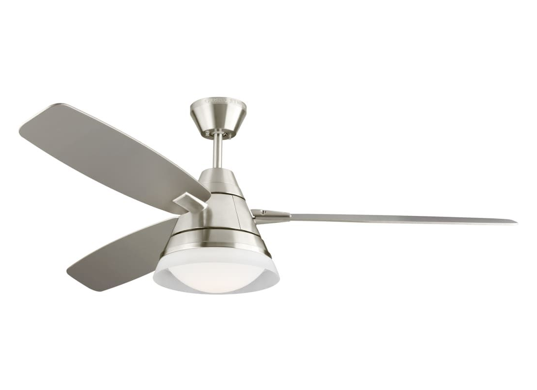 "Favorite Nikki 3 Blade Ceiling Fans Throughout Monte Carlo Nord Nord 3 Blade 54"" Indoor Ceiling Fan – Light (View 17 of 20)"