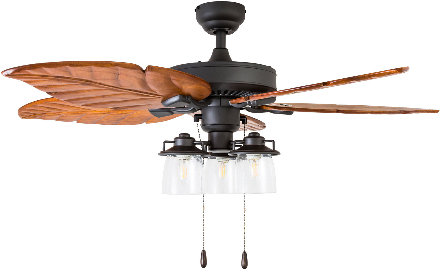 "Favorite Njie Caged Crystal 5 Blade Ceiling Fans Inside 52"" Columbus 5 Blade Led Ceiling Fan (View 19 of 20)"