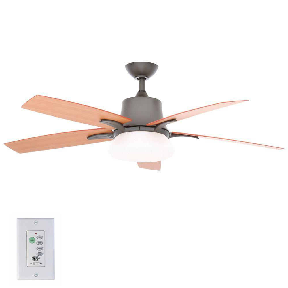 Favorite Ratcliffe 5 Blade Led Ceiling Fans With Regard To Hampton Bay Waleska Ii 52 In (View 10 of 20)