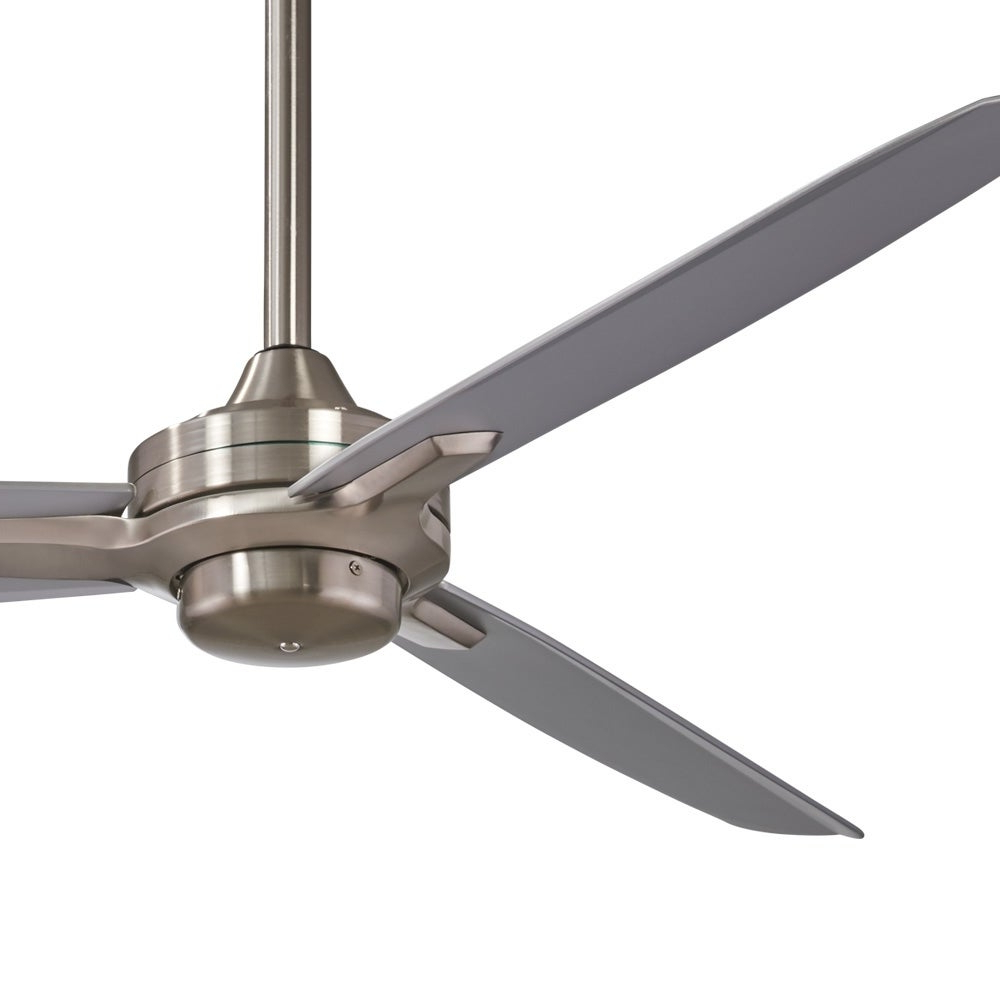 Favorite Rudolph 3 Blade Ceiling Fans Inside Rudolph Ceiling Fan In Brushed Nickel W/ Silver Finish W/silver Blades (View 5 of 20)