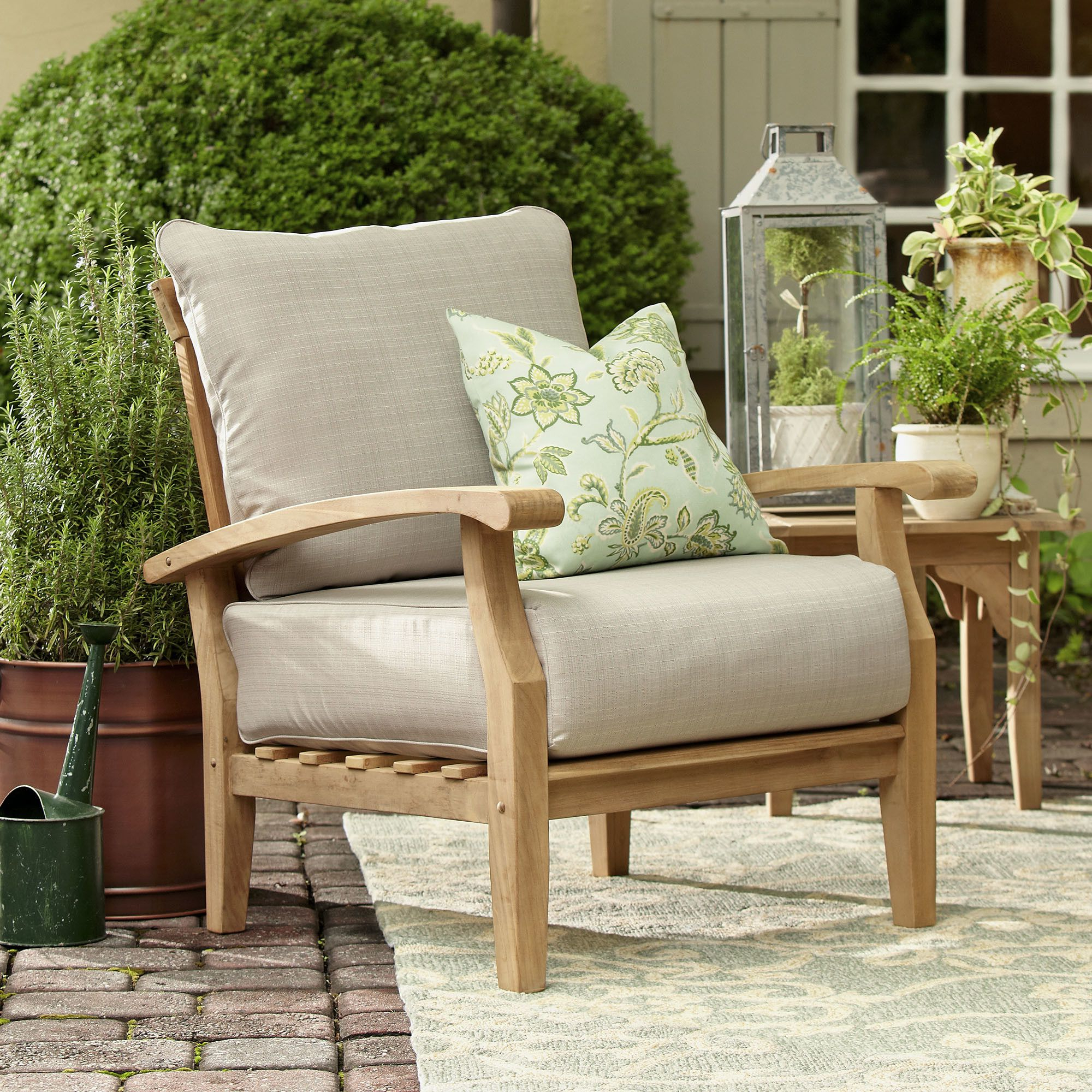 Favorite Summerton Teak Patio Chair With Cushions (View 7 of 20)