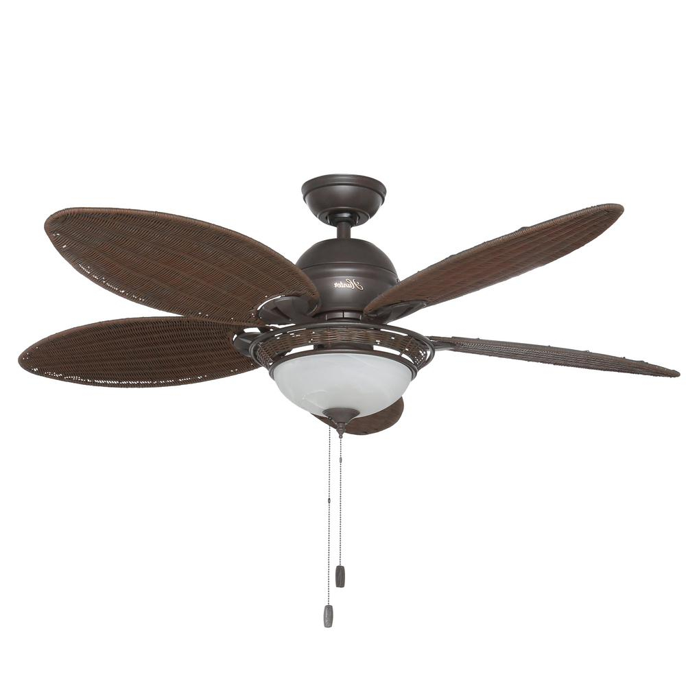 Favorite Watson 5 Blade Ceiling Fans Intended For Hunter Caribbean Breeze 54 In (View 3 of 20)