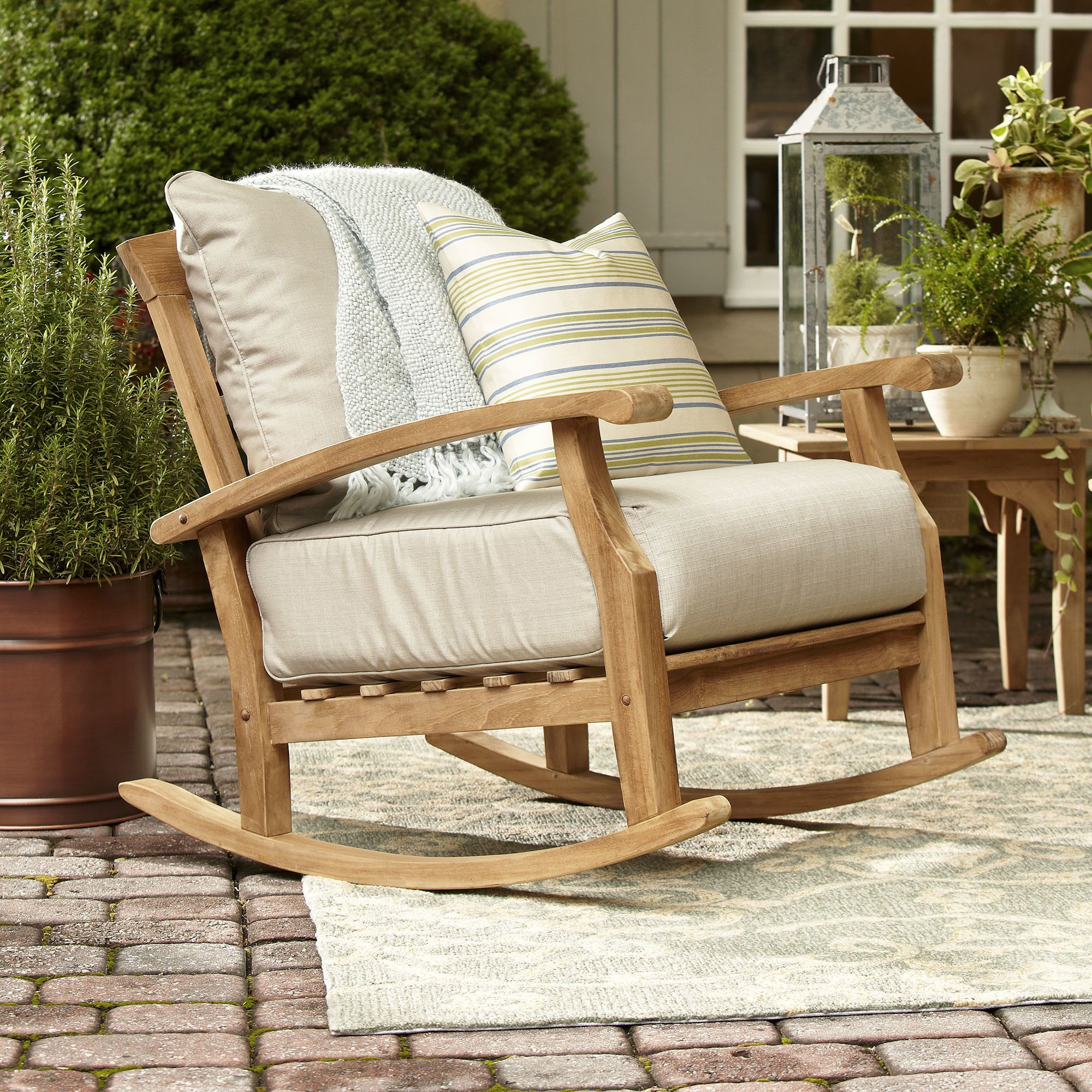 For Our Home With Regard To Summerton Teak Patio Sofas With Cushions (View 8 of 20)