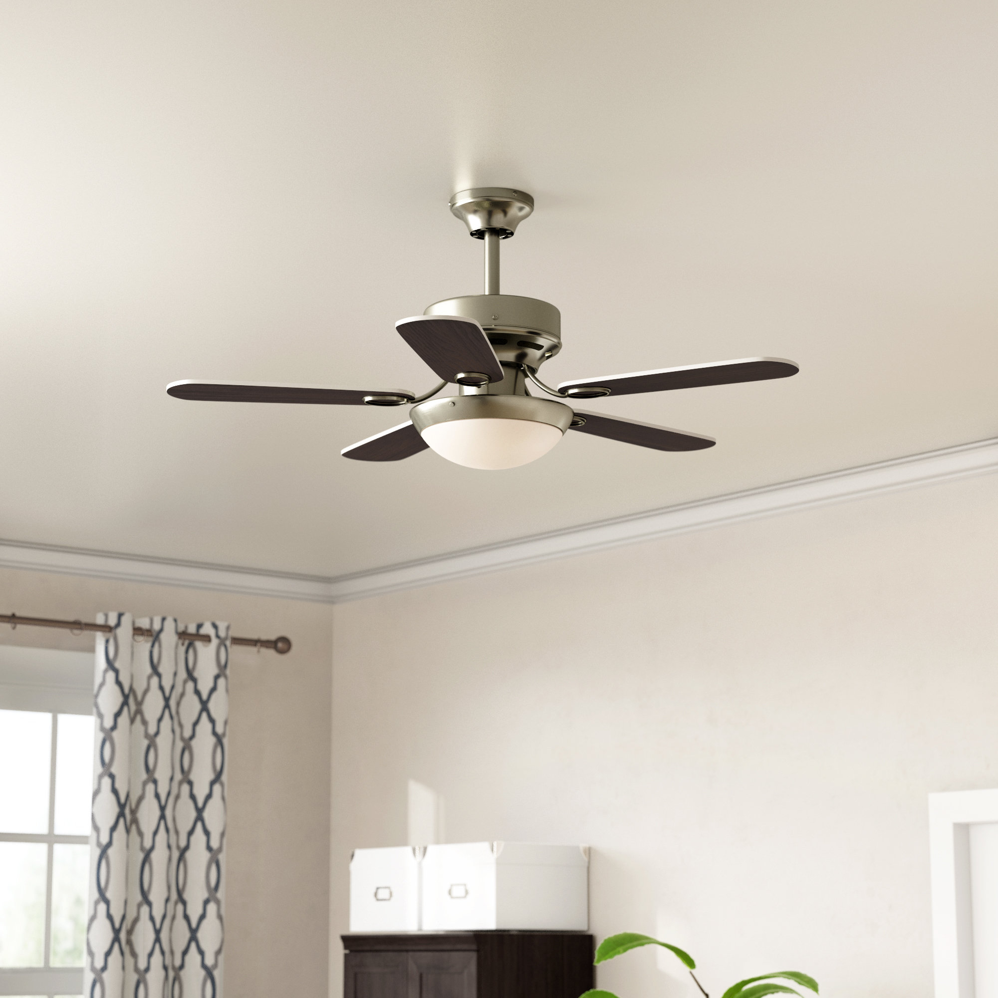 Fredericksen 5 Blade Ceiling Fans Regarding Well Known Black Wood Ceiling Fans You'll Love In  (View 10 of 20)