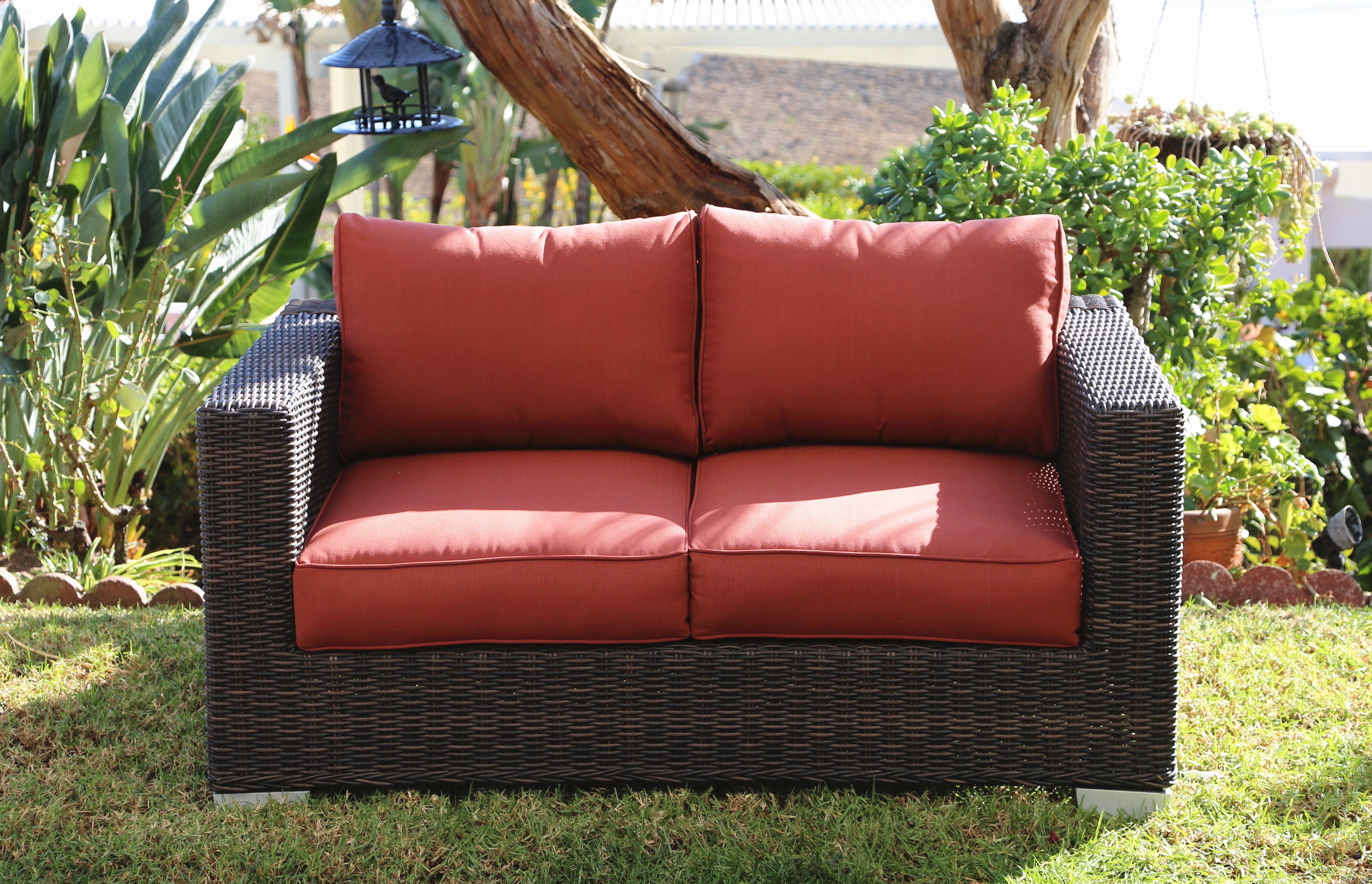 Fults Loveseat With Cushion In Preferred Provencher Patio Loveseats With Cushions (View 4 of 20)