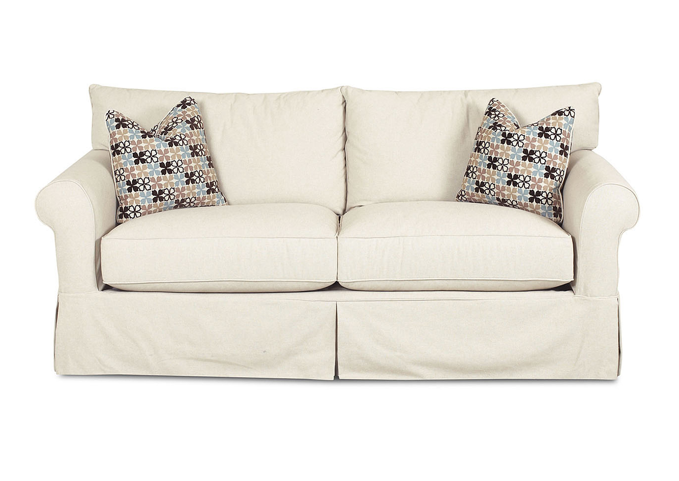 Furniture & More Galleries Jenny Beige Stationary Fabric Sofa With Fashionable Bristol Loveseats With Cushions (View 10 of 20)