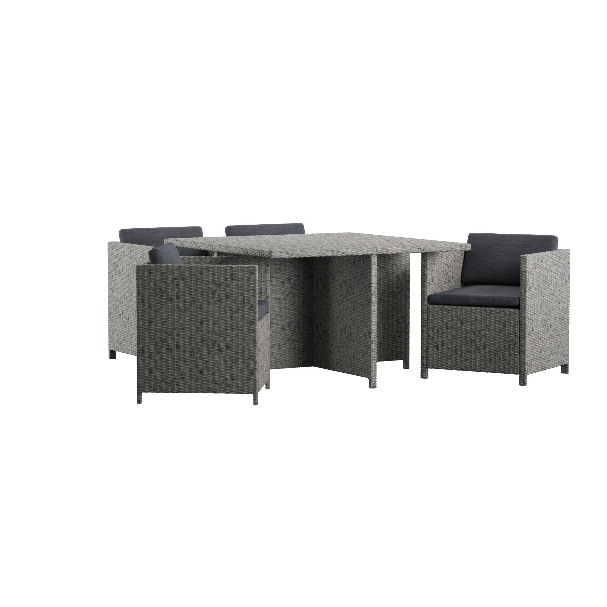 Furst Outdoor 5 Piece Dining Set With Cushions Inside Most Recently Released Furst Patio Sofas With Cushion (View 4 of 20)