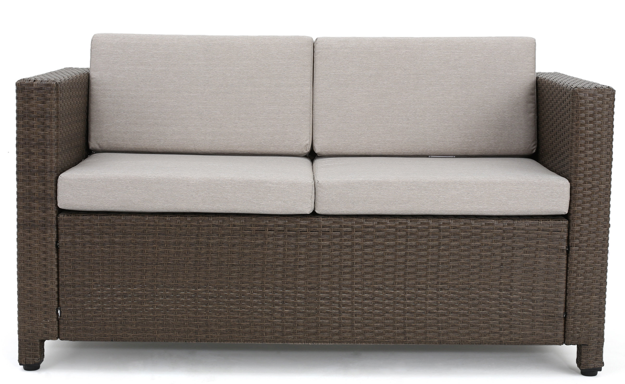 Furst Outdoor Loveseat With Cushions Throughout Popular Yoselin Patio Sofas With Cushions (View 7 of 20)