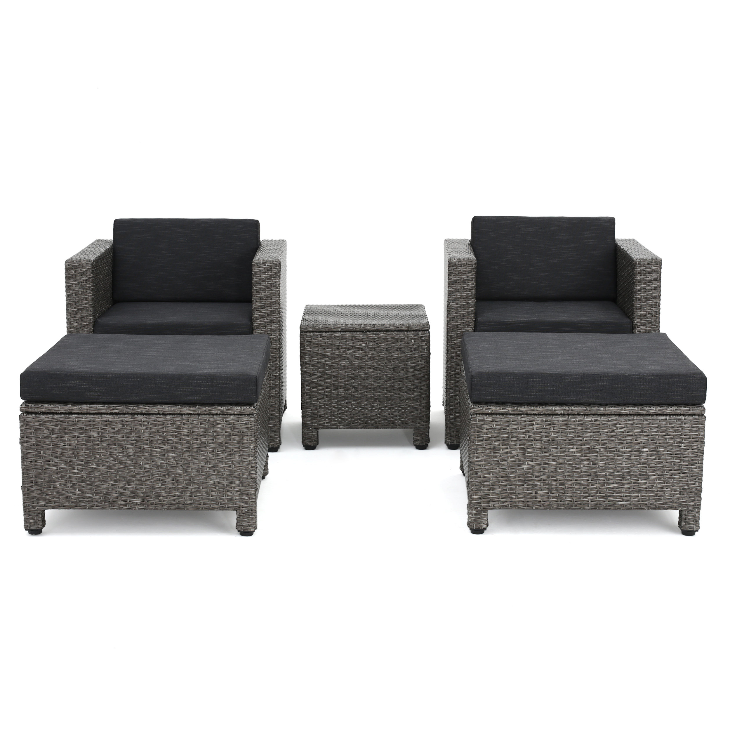 Furst Patio Sofas With Cushion Inside Well Known Furst 5 Piece Rattan Seating Group With Cushions (View 7 of 20)