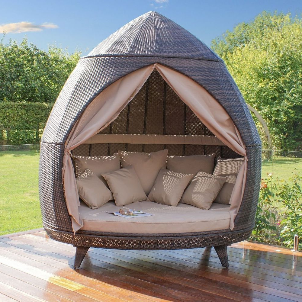 Garden Furniture Set Rattan Wicker Seat Chair Daybed Inside Latest Hatley Patio Daybeds With Cushions (View 4 of 20)
