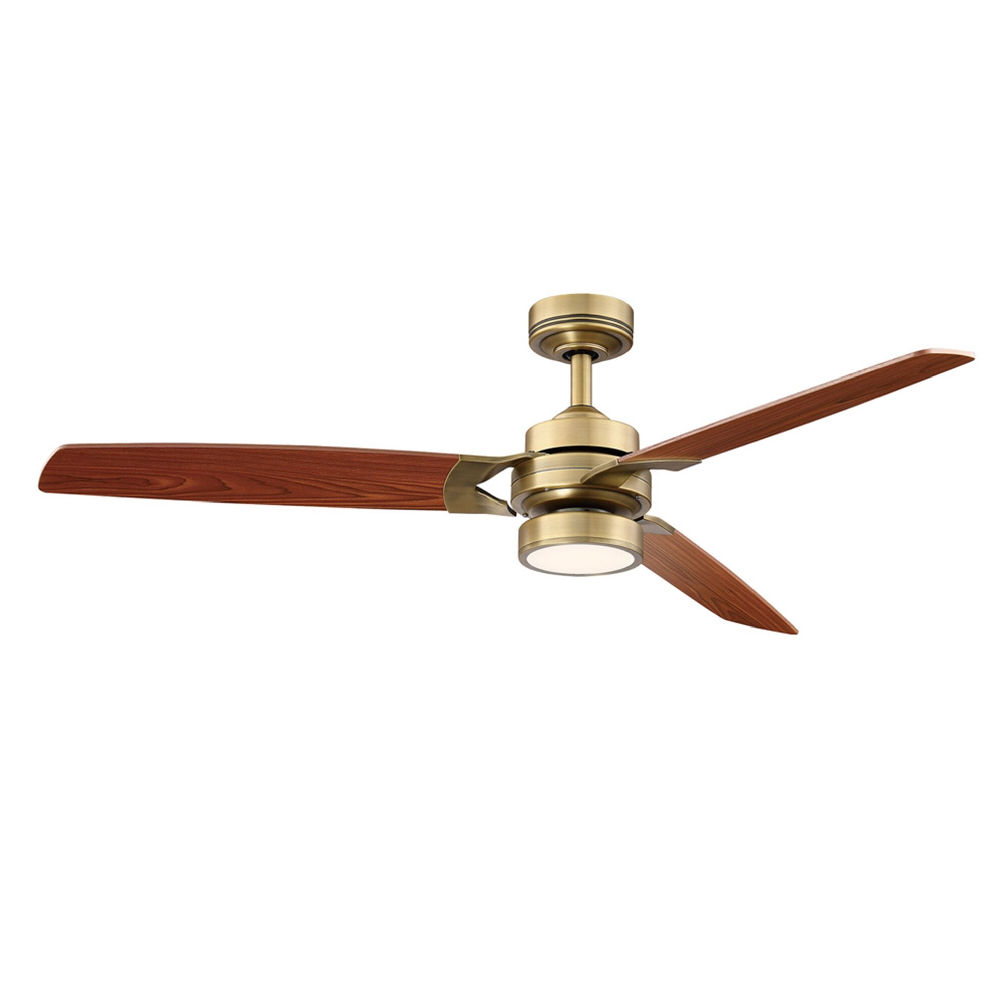Gaye 3 Blade Led Ceiling Fan With Remote, Light Kit Included Inside Well Known Zonix 3 Blade Ceiling Fans (View 8 of 20)