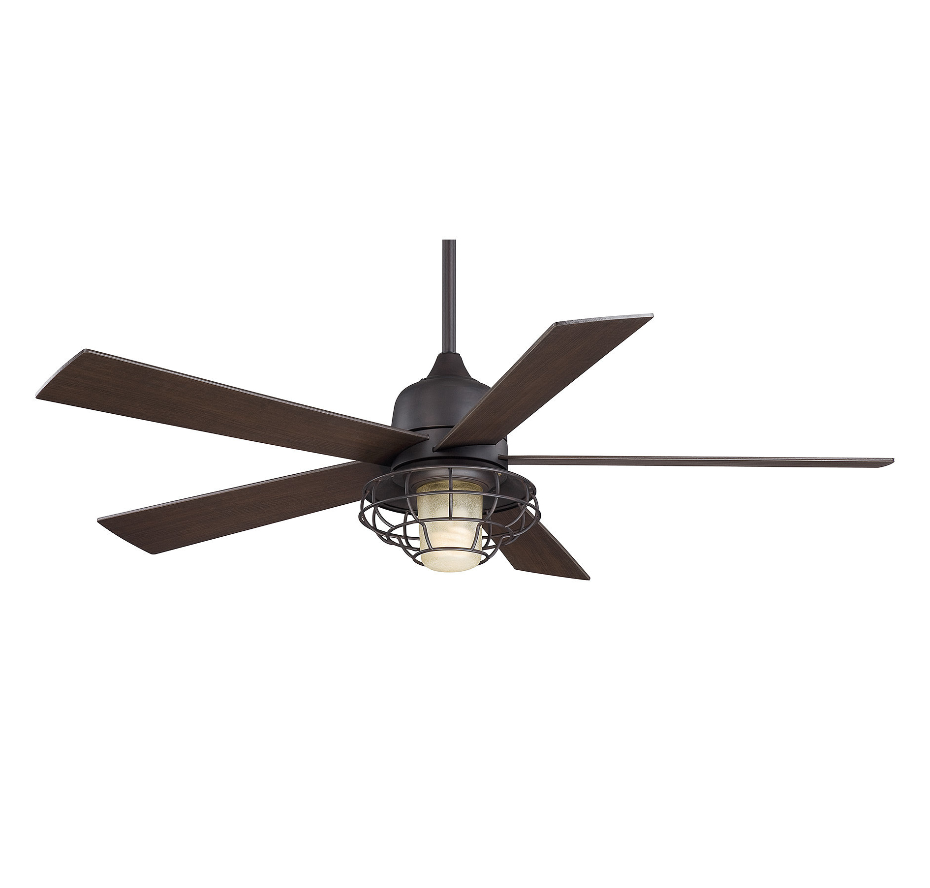 "Glenpool 5 Blade Ceiling Fans Intended For Most Recently Released 52"" Charo Damp Location 5 Blade Ceiling Fan With Remote, Light Kit Included (Gallery 19 of 20)"