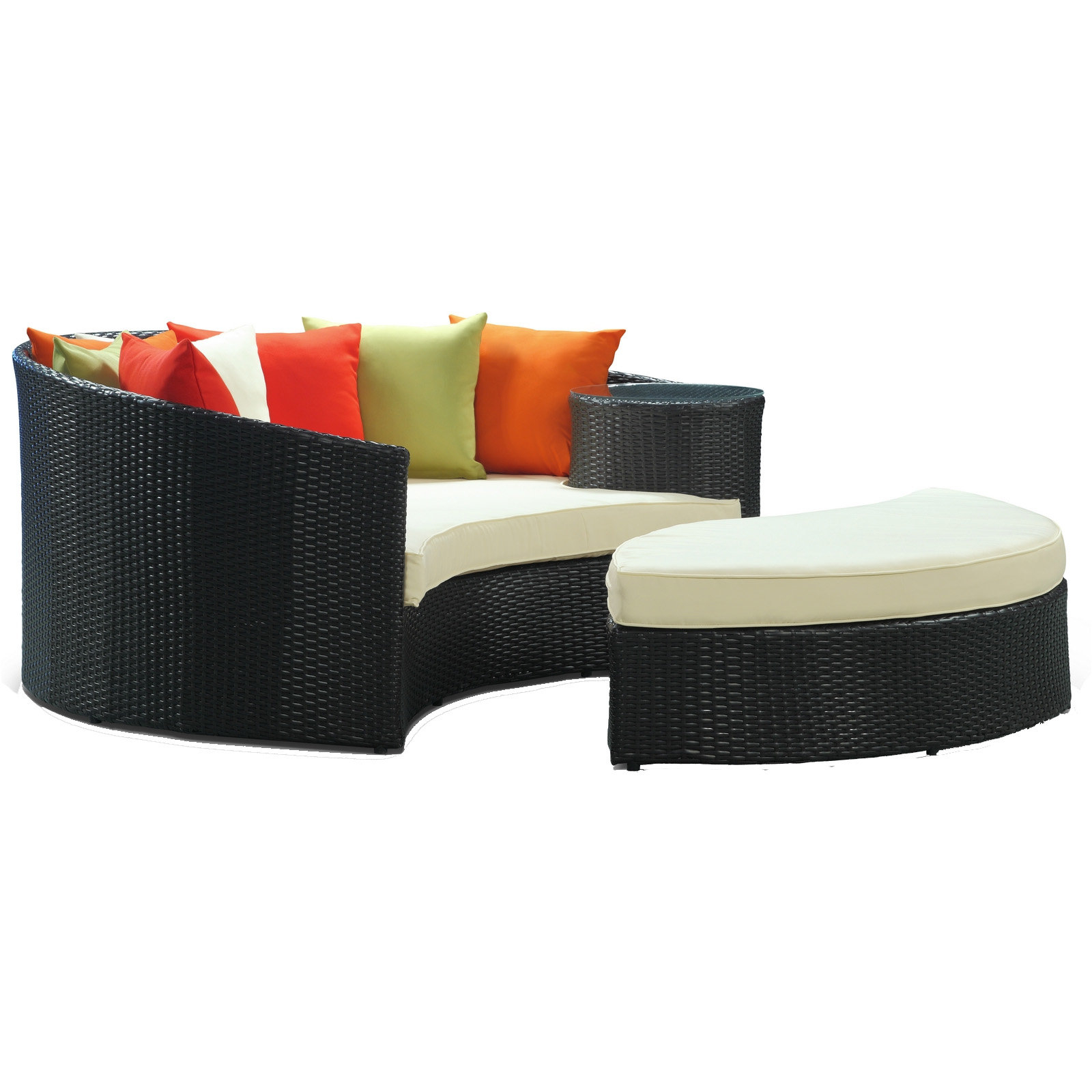 Featured Photo of Greening Outdoor Daybeds With Ottoman & Cushions