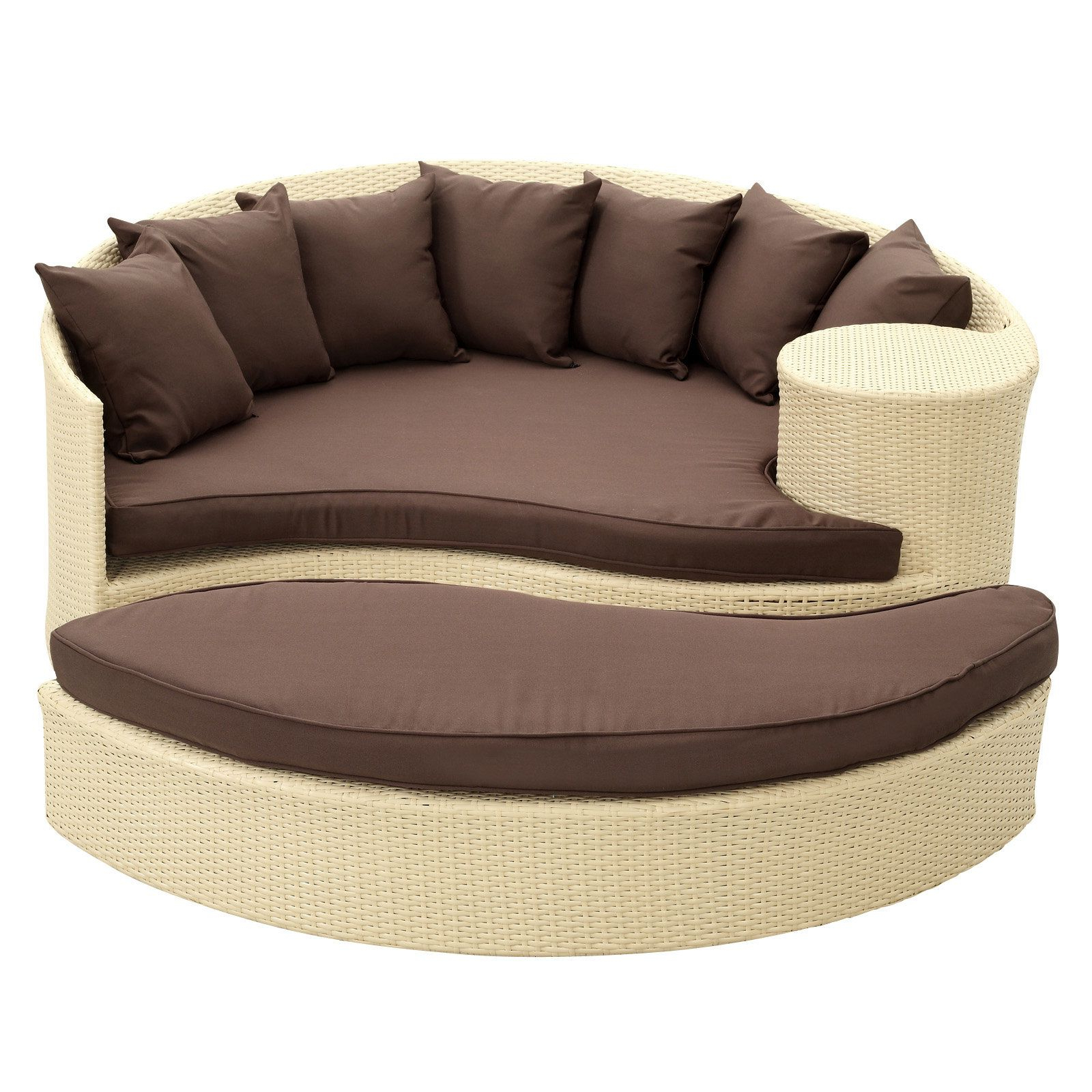 Greening Outdoor Daybeds With Ottoman & Cushions Within Preferred Brentwood Daybed With Cushions (View 4 of 20)