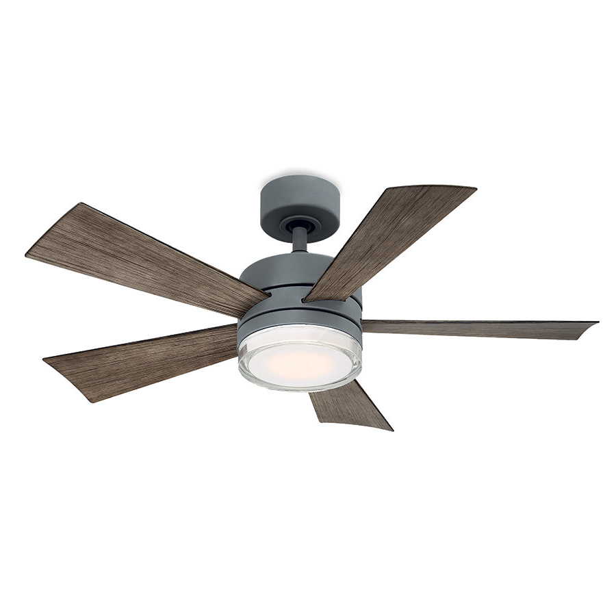 Grey Outdoor Ceiling Fans You'll Love In  (View 8 of 20)