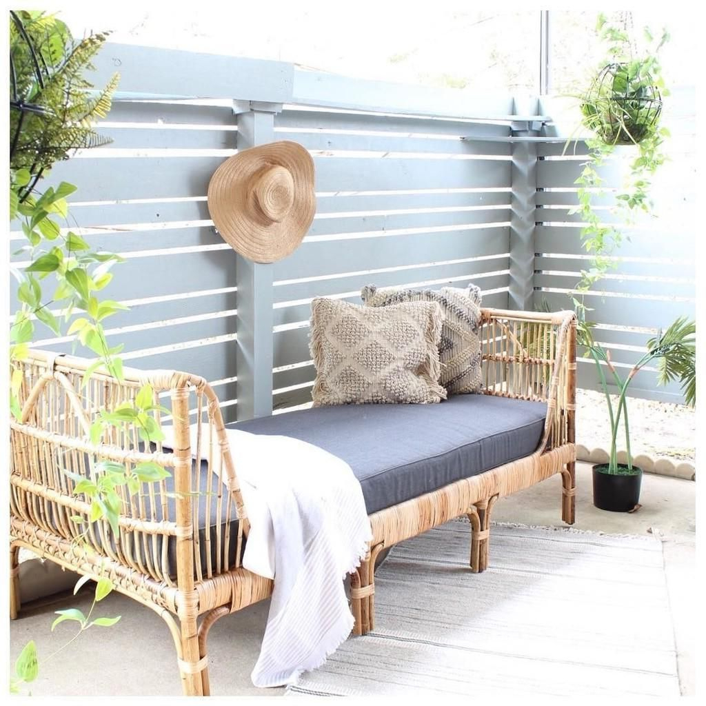 Grosvenor Bamboo Patio Daybeds With Cushions With Most Popular Rattan Outdoor Lounger – Article Sol Modern Outdoor (View 7 of 20)