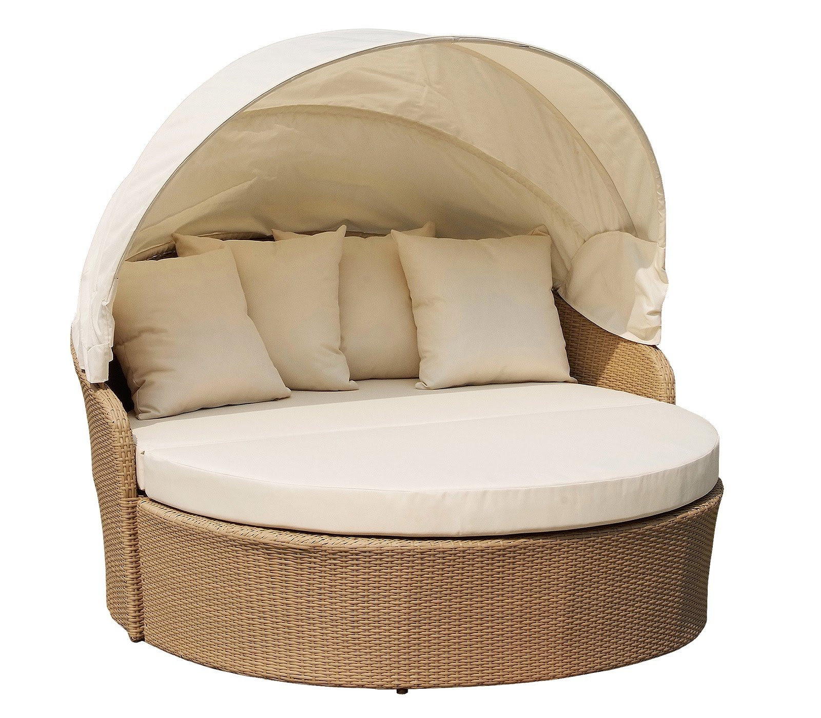 Grosvenor Bamboo Patio Daybeds With Cushions Within Most Recently Released Woolery Canopy Daybed With Cushions (View 9 of 20)