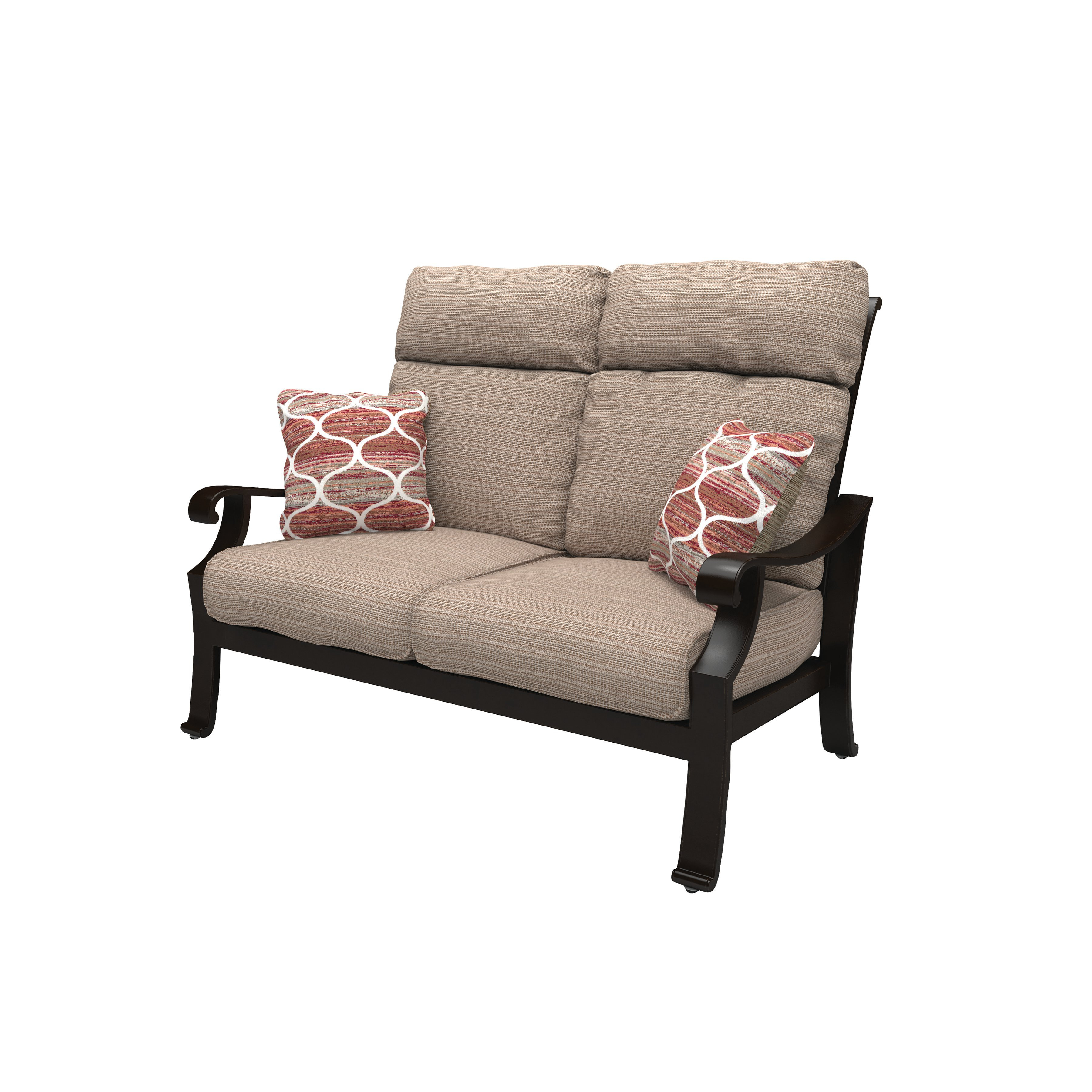 Hamer Loveseat With Cushions With Regard To 2019 Northridge Loveseats With Cushions (Gallery 13 of 20)
