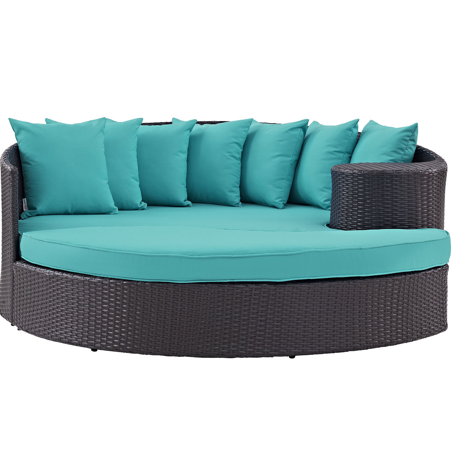 Harlow Patio Daybeds With Cushions Pertaining To Trendy Brentwood Patio Daybed With Cushions (View 12 of 20)