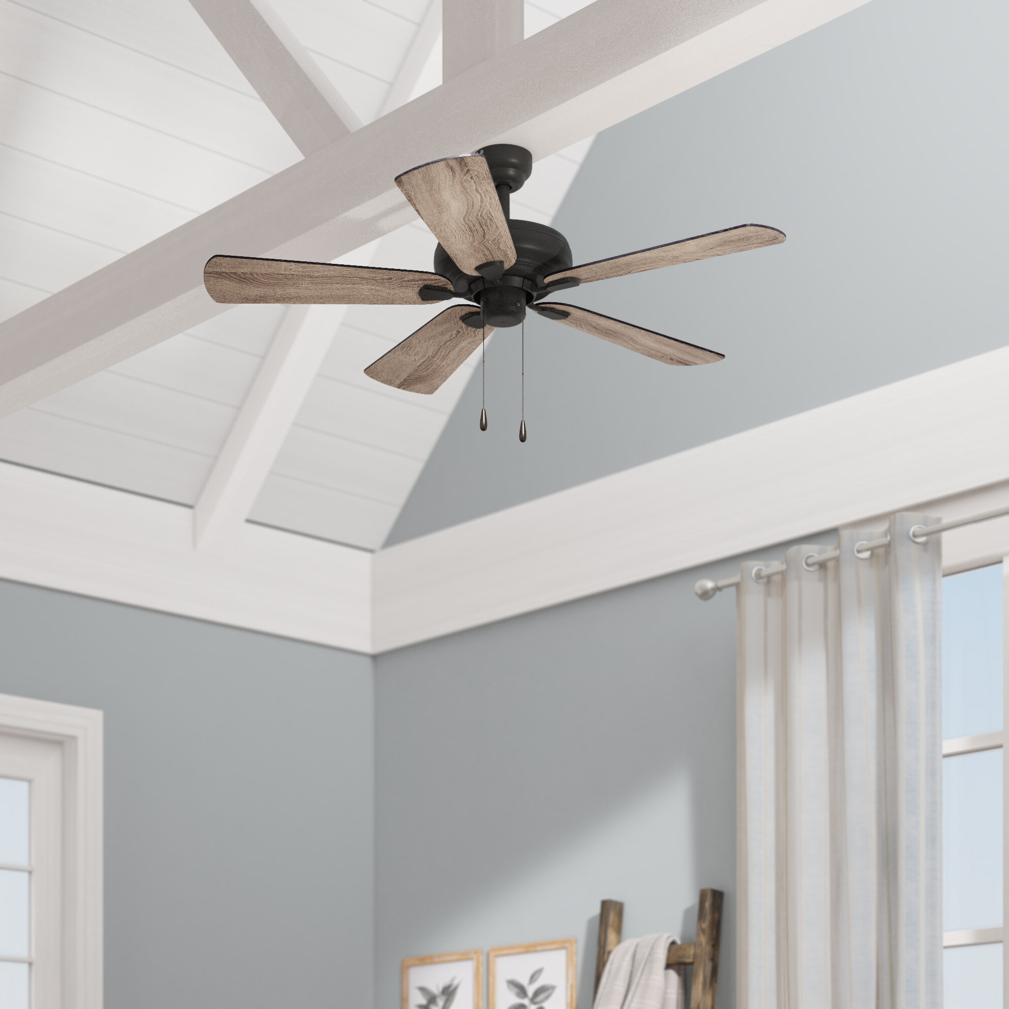 """Hatherton 5 Blade Ceiling Fans Pertaining To 2019 42"""" Raseborg 5 Blade Ceiling Fan (Gallery 9 of 20)"""