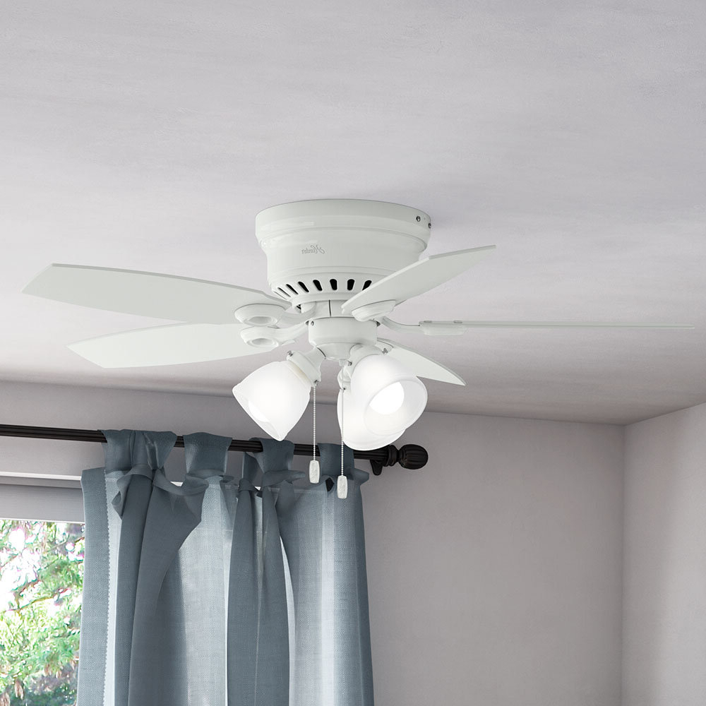 """Hatherton 5 Blade Ceiling Fans Pertaining To 2020 46"""" Hatherton 5 Blade Ceiling Fan, Light Kit Included (Gallery 3 of 20)"""