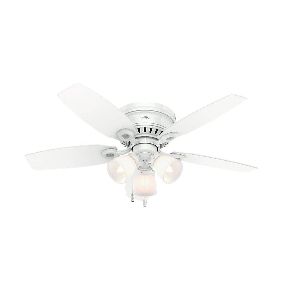 Hatherton 5 Blade Ceiling Fans With Regard To 2020 Hunter Hatherton 46 In. Indoor White Ceiling Fan With Light Kit (Gallery 2 of 20)