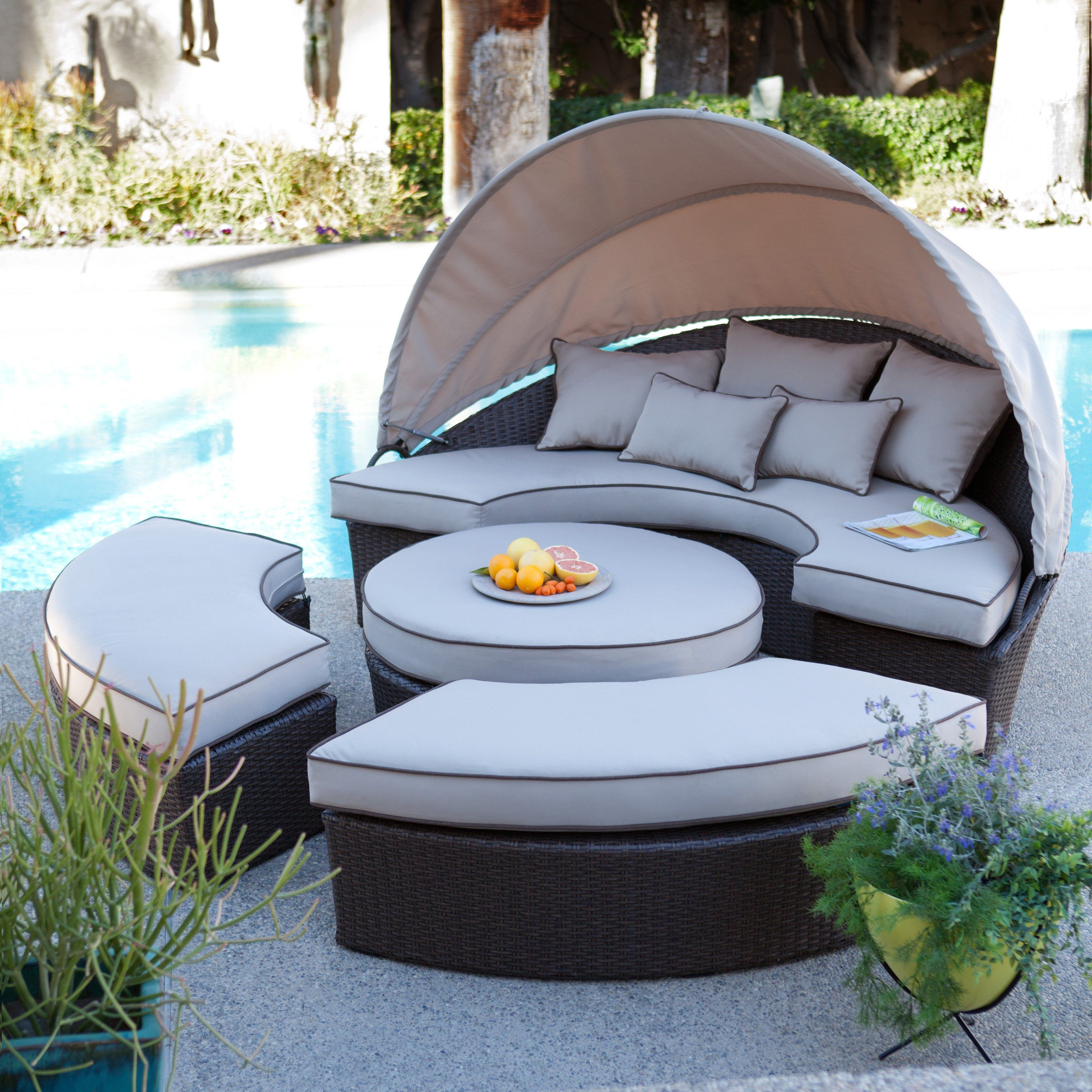 Have To Have It. Rendezvous All Weather Wicker Sectional With Most Up To Date Brennon Cube Patio Daybeds With Cushions (Gallery 21 of 25)