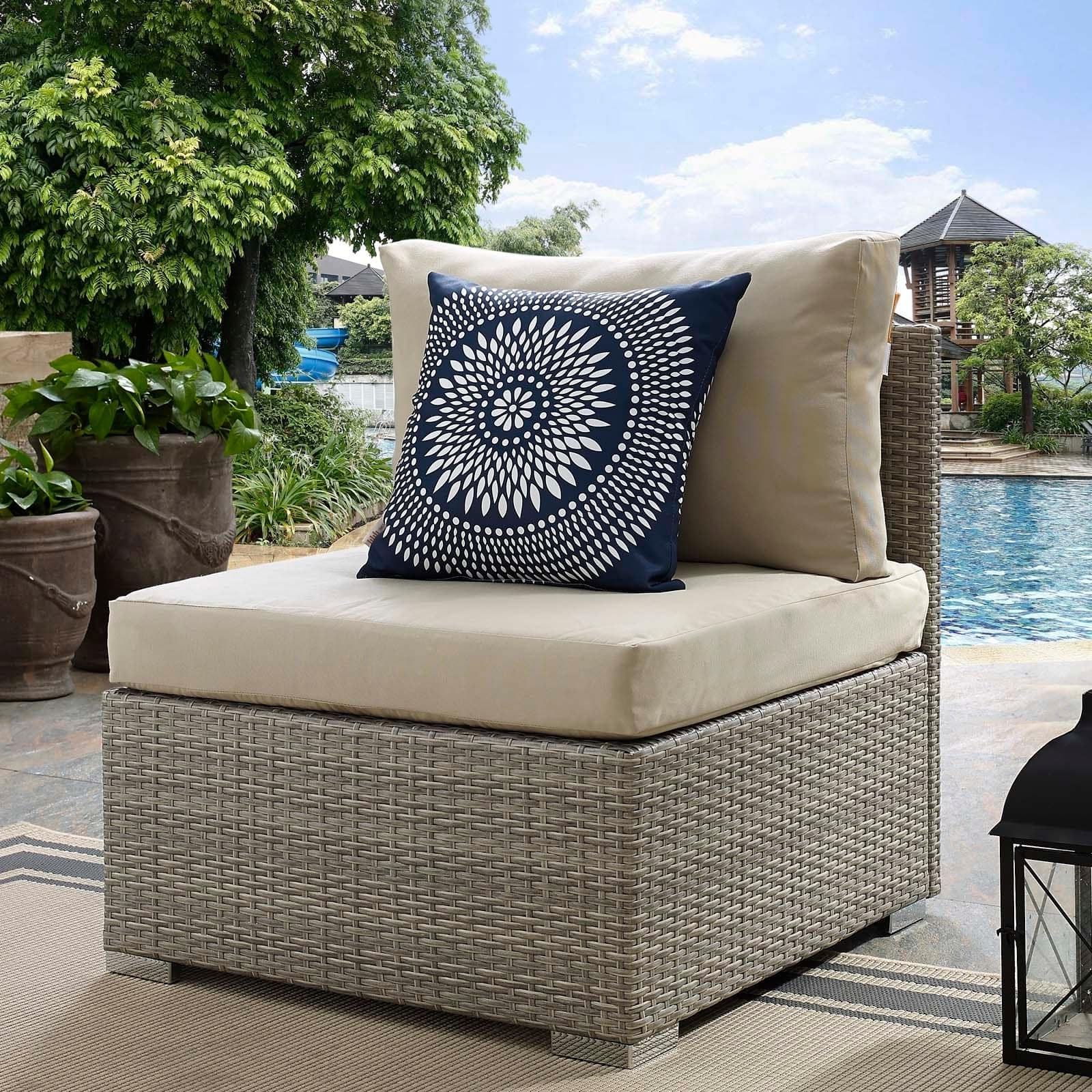 Havenside Home Bocabec Trendy Outdoor Patio Armchair With Regard To Recent Keiran Patio Sofas With Cushions (Gallery 12 of 20)