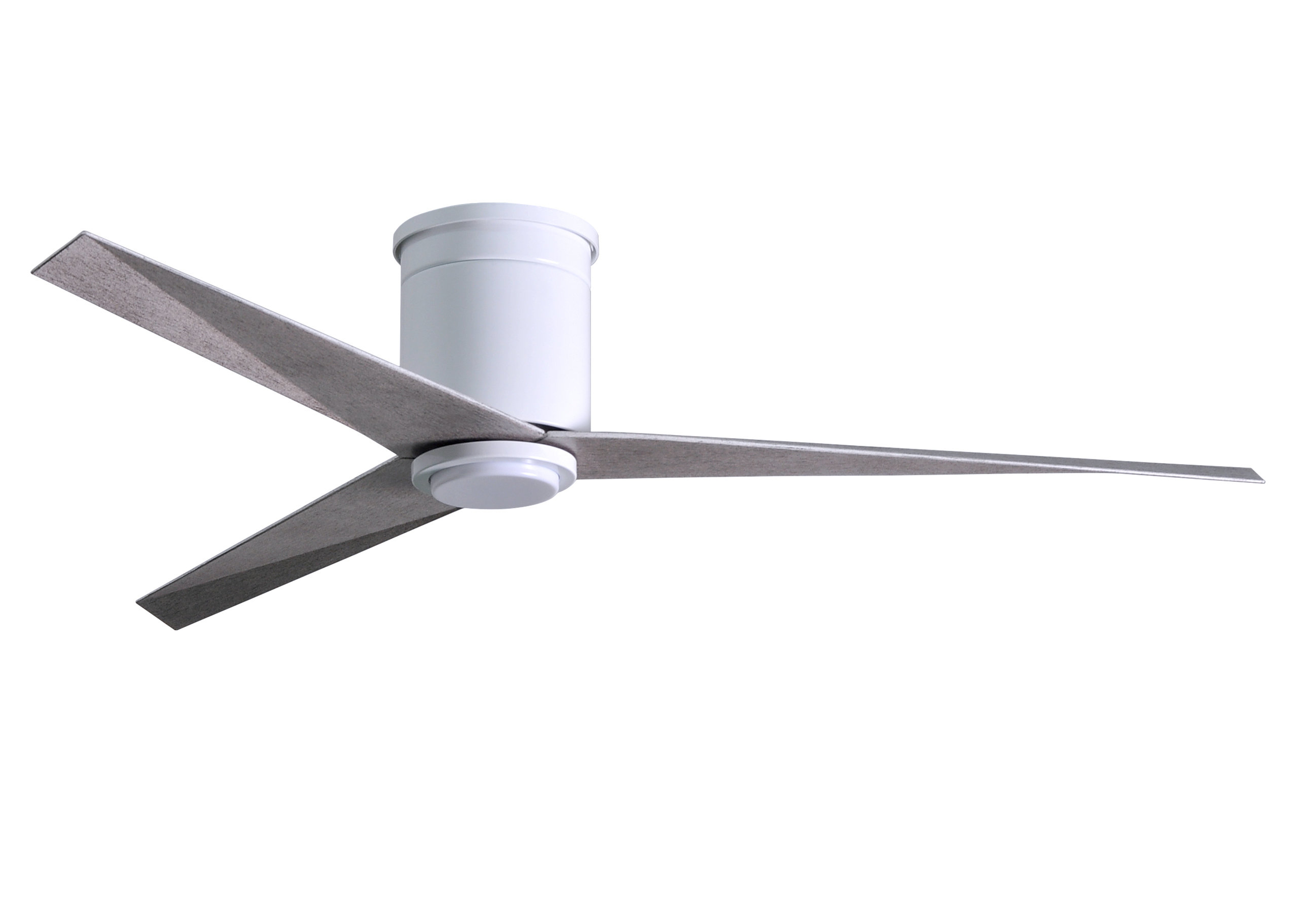 "Hedin 3 Blade Hugger Ceiling Fans Throughout Famous 56"" Hedin Flushmount Frosted Glass Light Kit 3 Blade Led Ceiling Fan With Remote (View 6 of 20)"